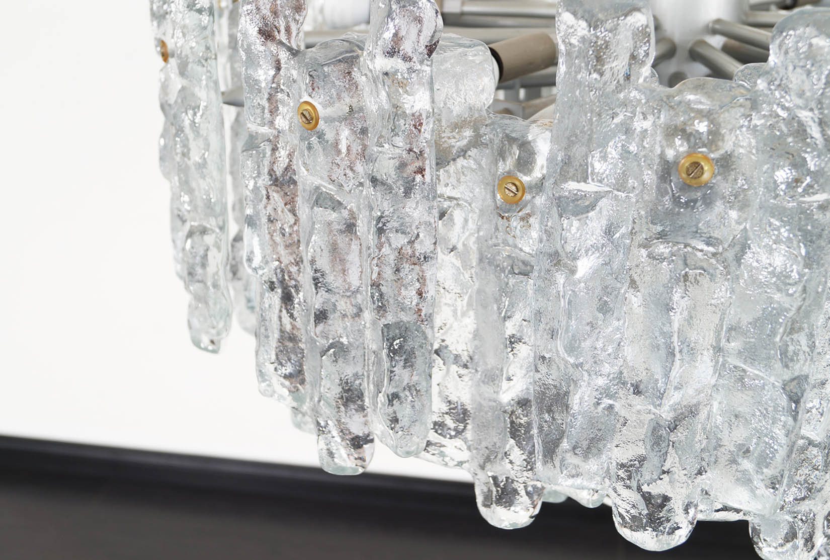 Austrian Soria Ice Glass Chandelier by J.T. Kalmar