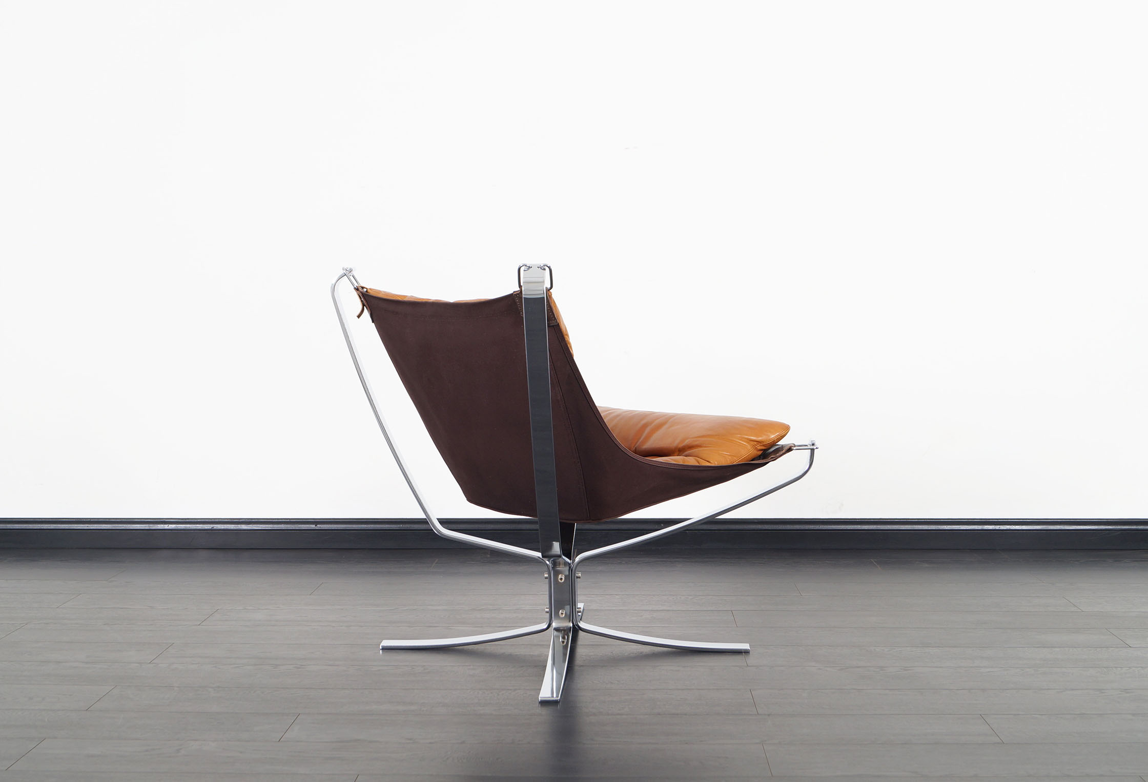 Vintage Chrome Falcon Lounge Chairs by Sigurd Ressell