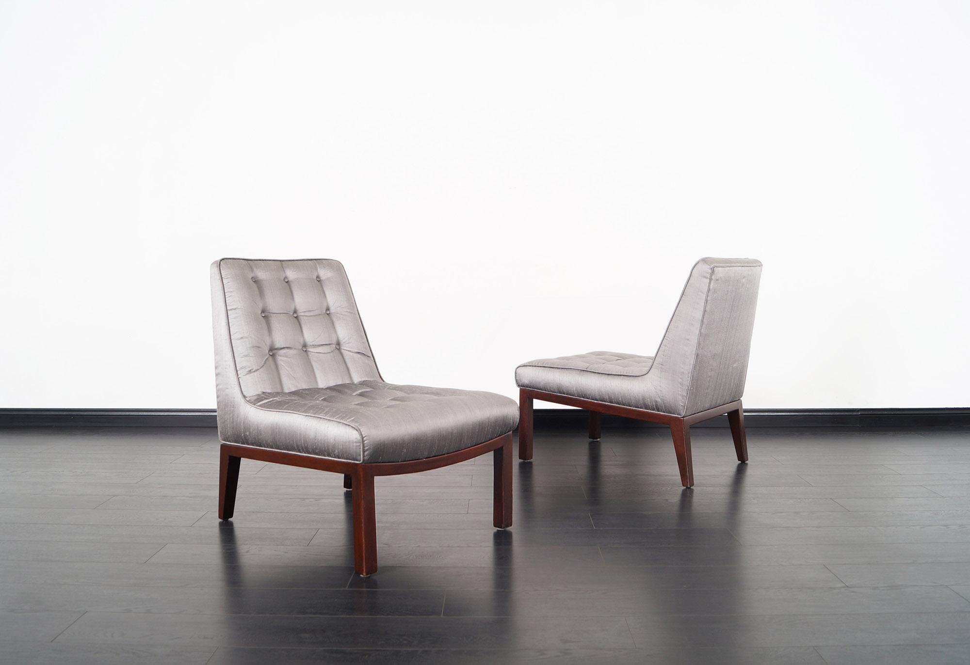 Dunbar Slipper Chairs by Edward J. Wormley