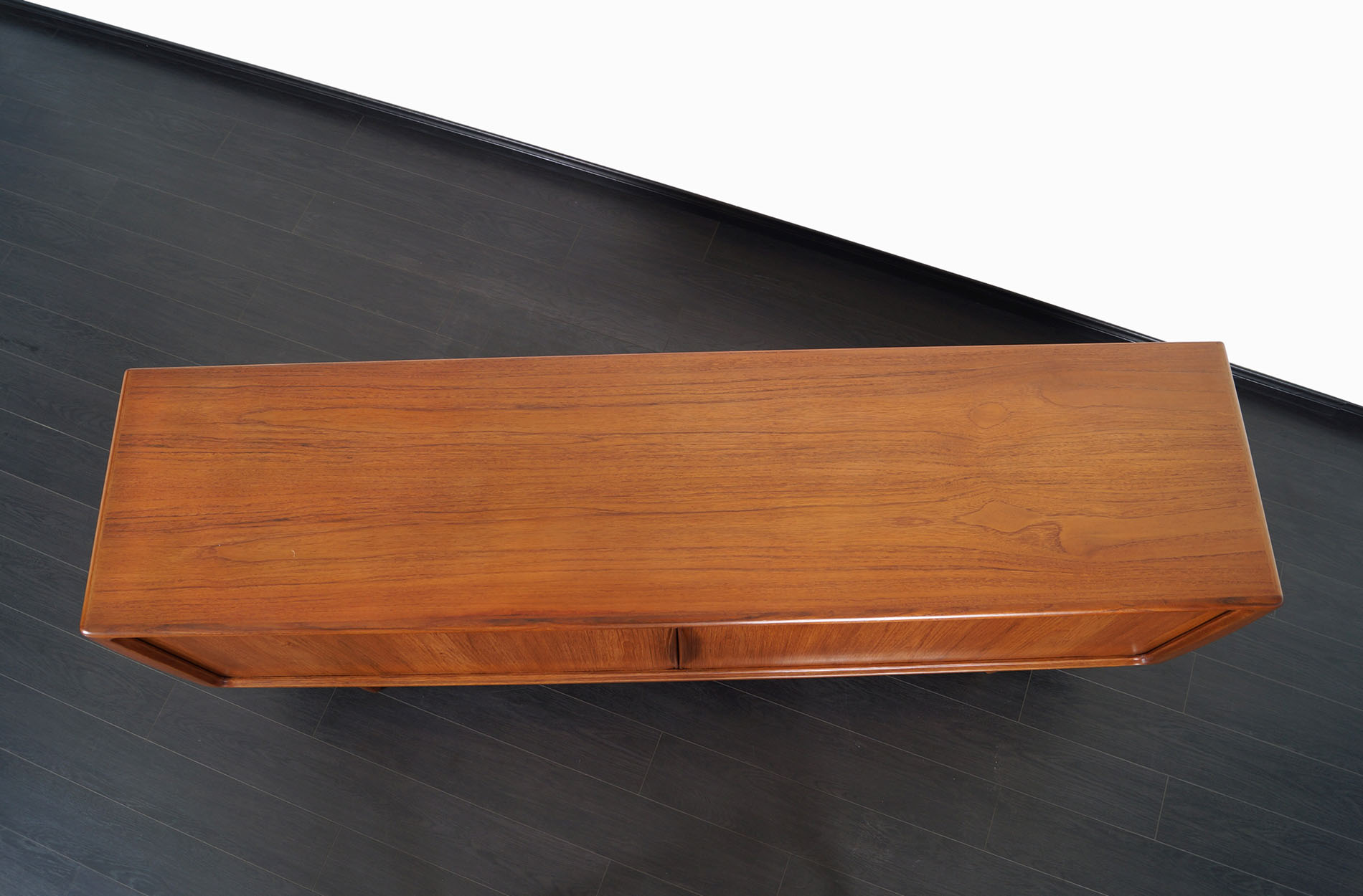 Danish Modern Tambour Door Credenza by Hoss Wulff