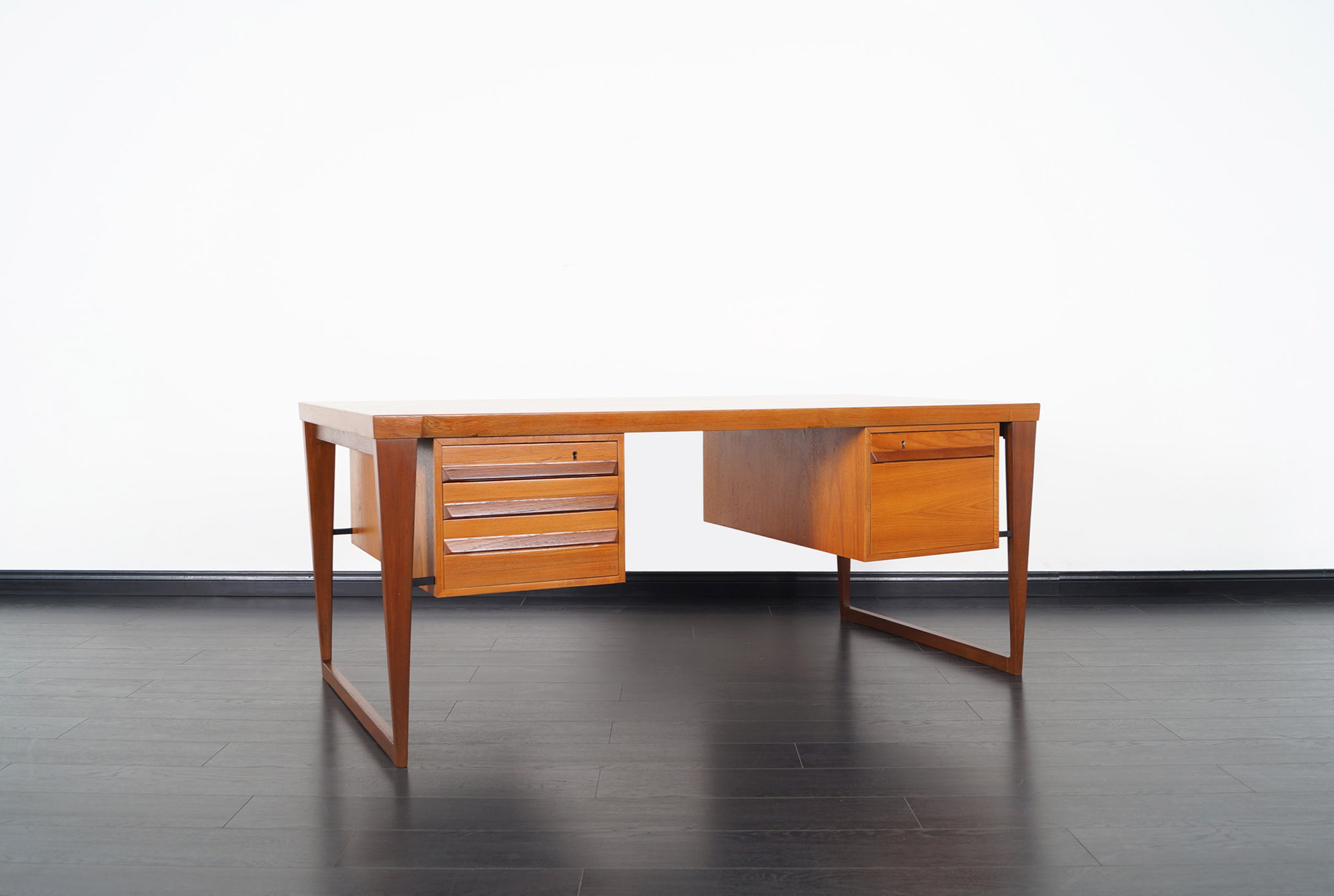 Danish Teak Executive Desk by Kai Kristiansen