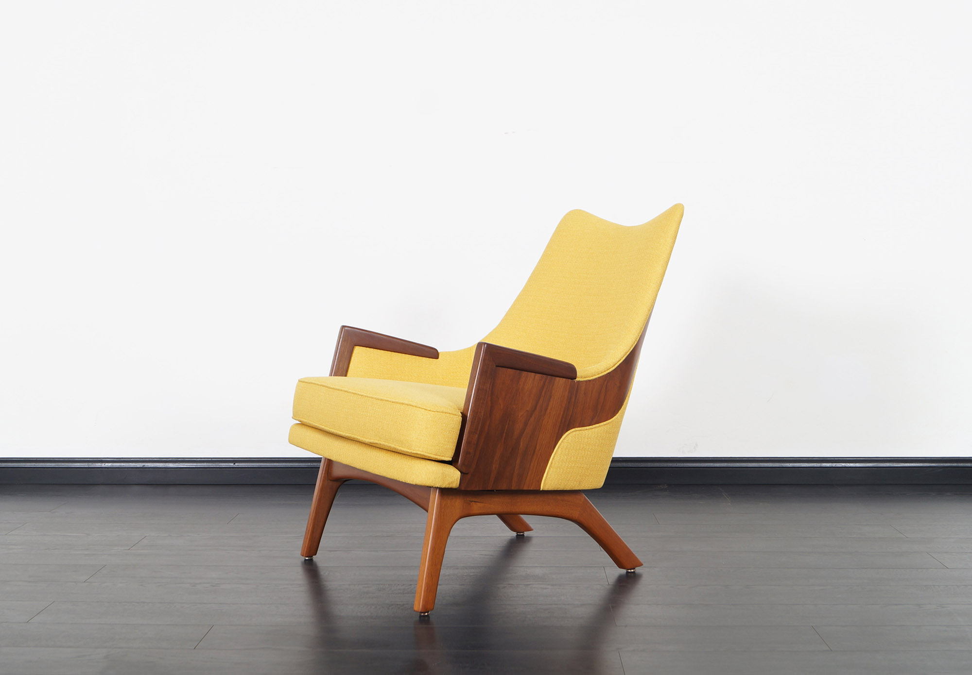 Vintage Walnut Lounge Chairs by Adrian Pearsall