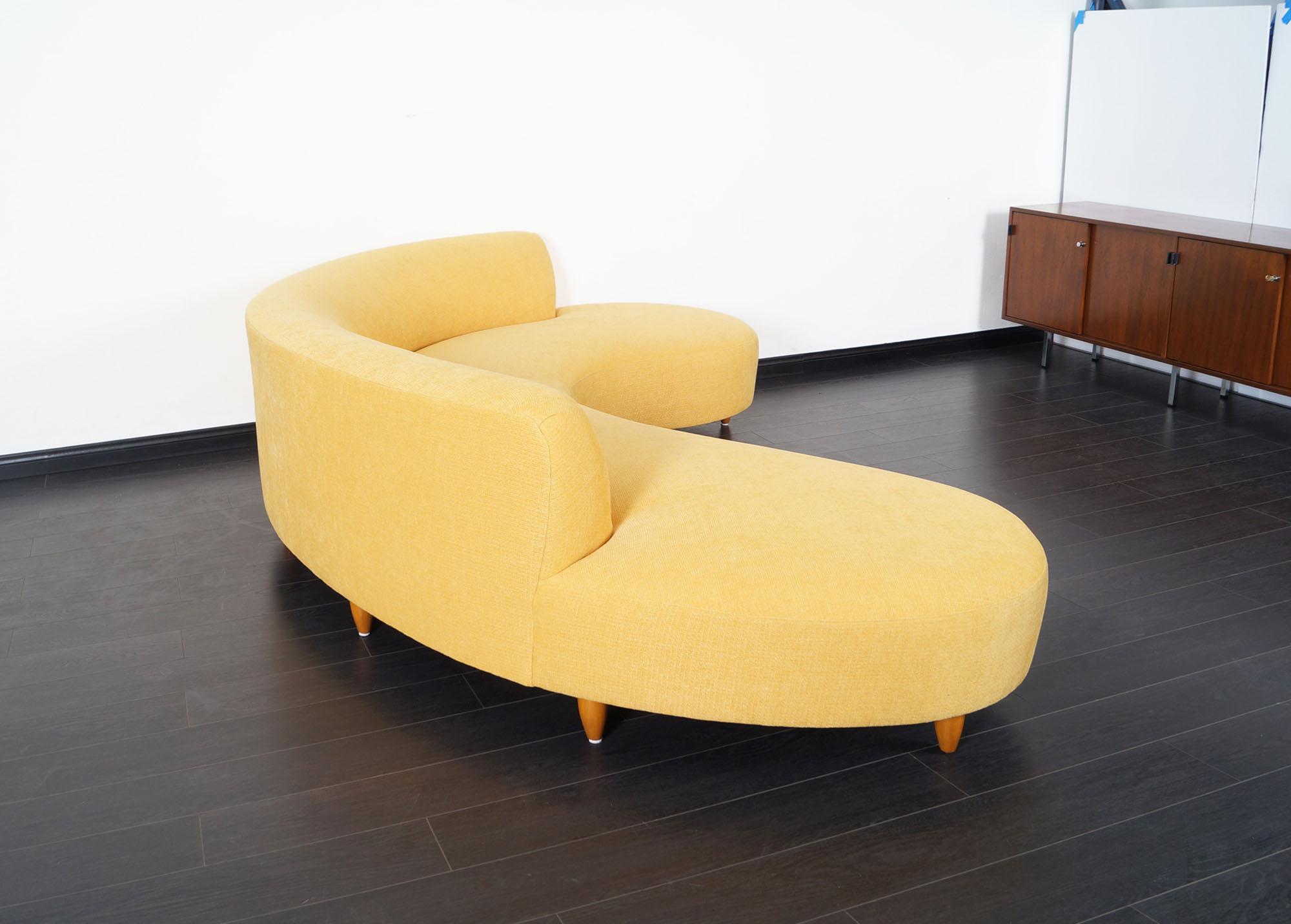 Vintage Serpentine Sofa by Vladimir Kagan