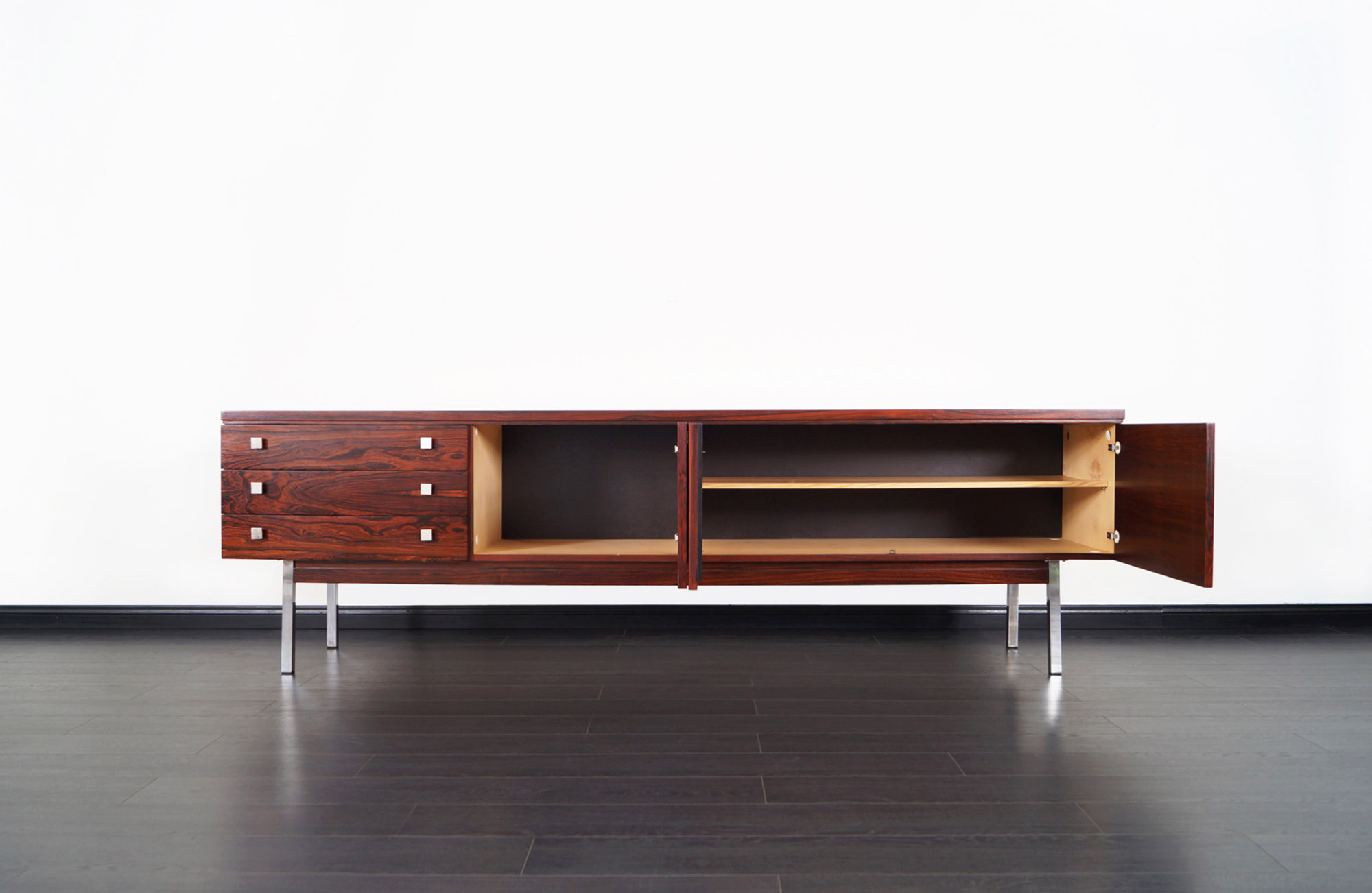 Exceptional Rosewood Credenza Attributed to Dieter Waeckerlin