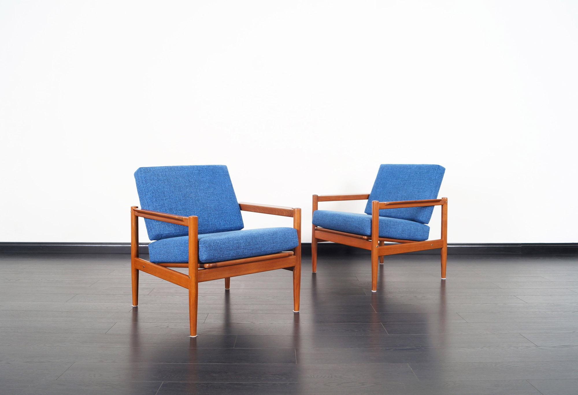 Danish Modern Teak Lounge Chairs by Børge Jensen & Sønner