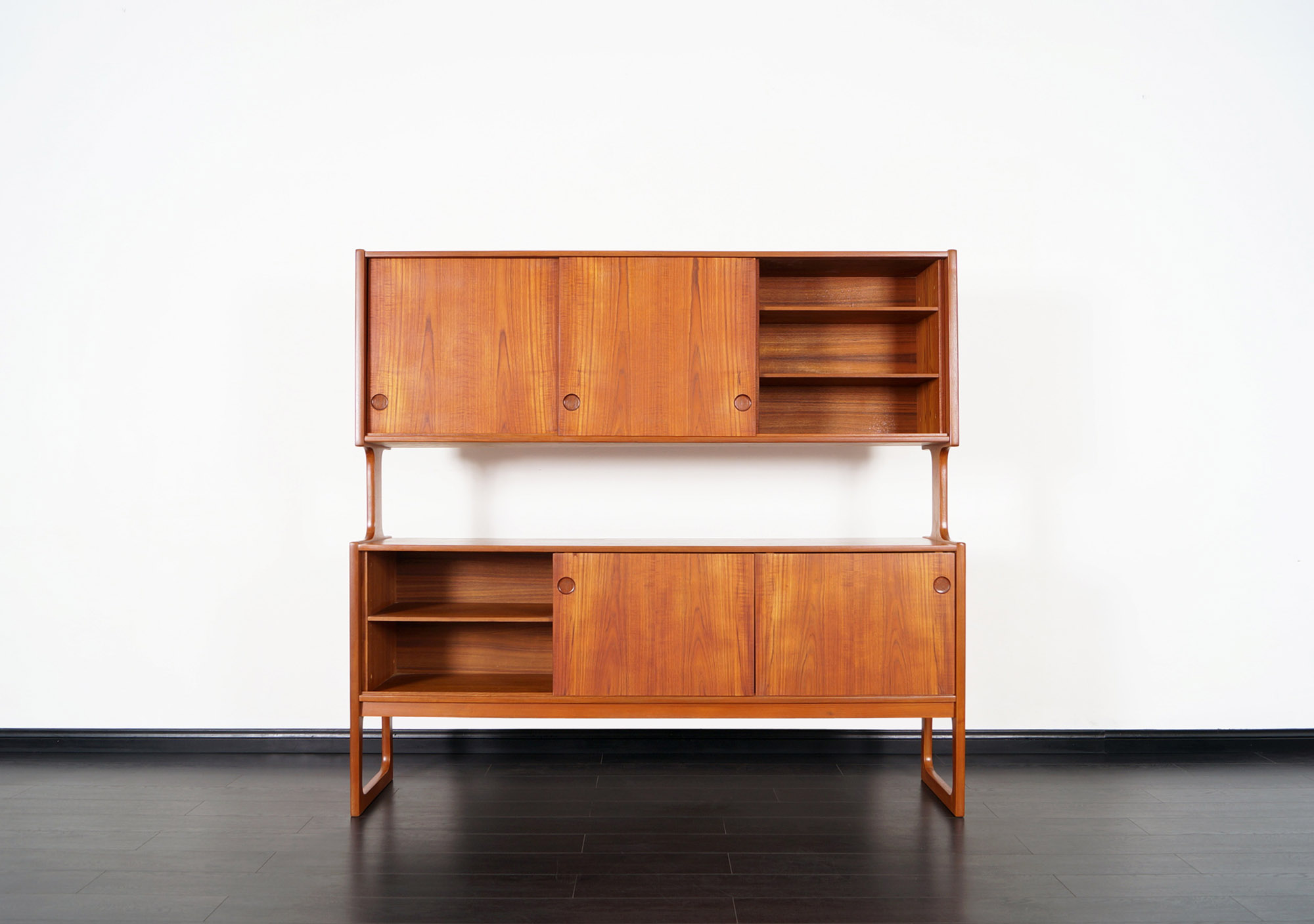 Danish Modern Teak Bi-Level Sideboard