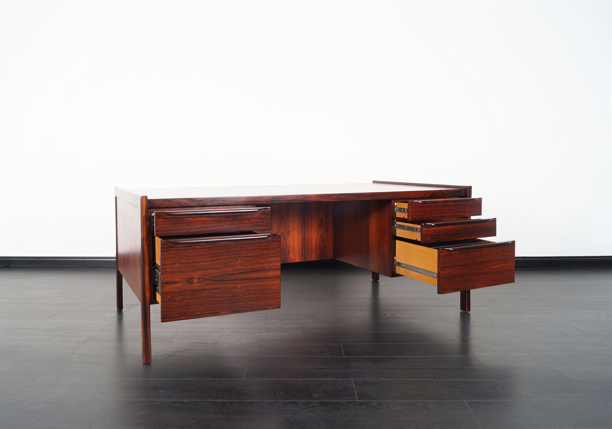 Danish Modern Rosewood Executive Desk