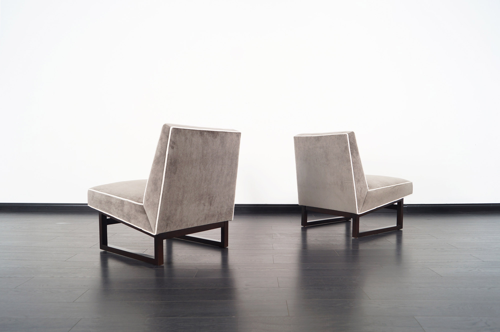 Vintage Slipper Chairs by Edward J. Wormley