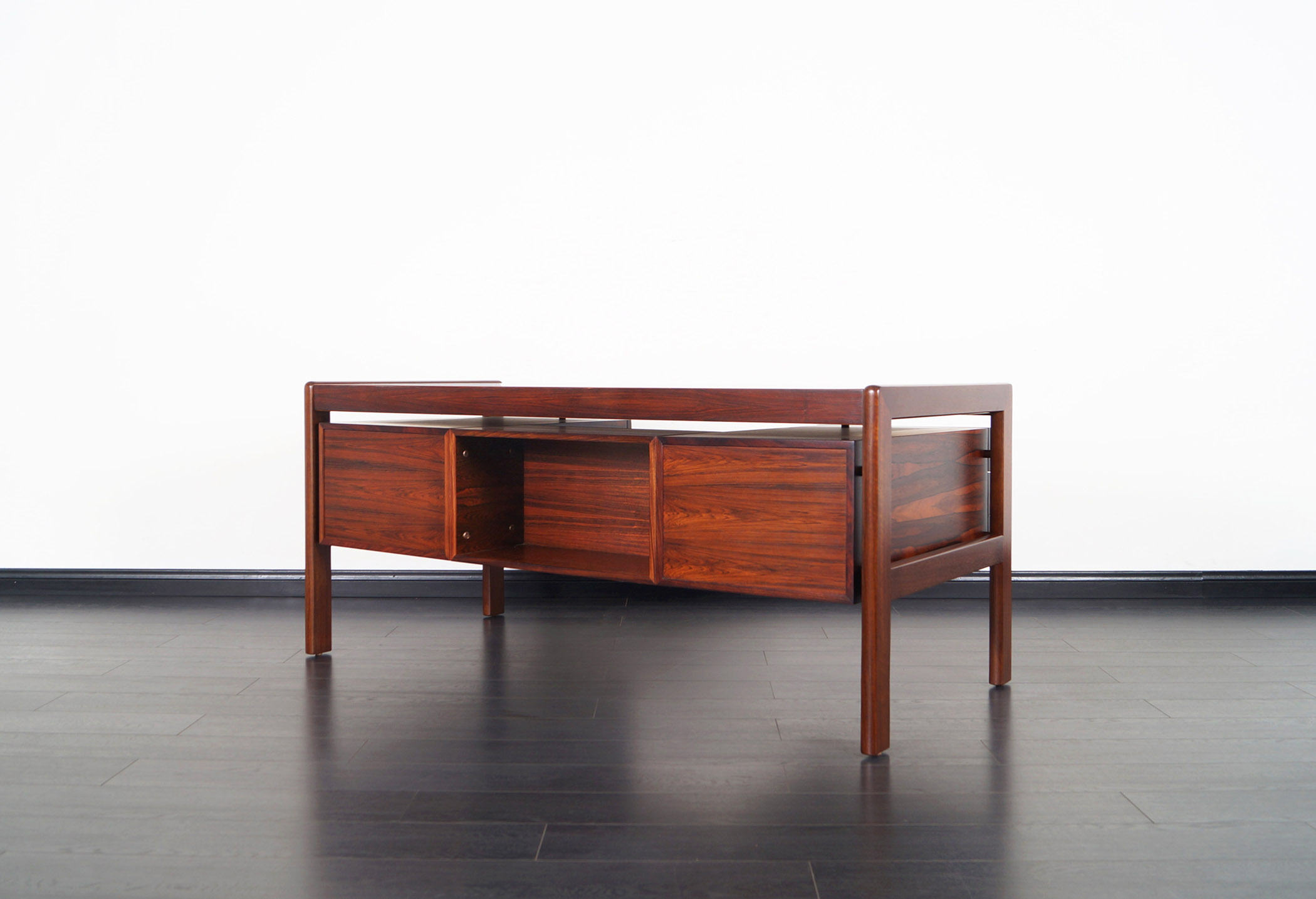 Danish Modern Rosewood Desk by Dyrlund