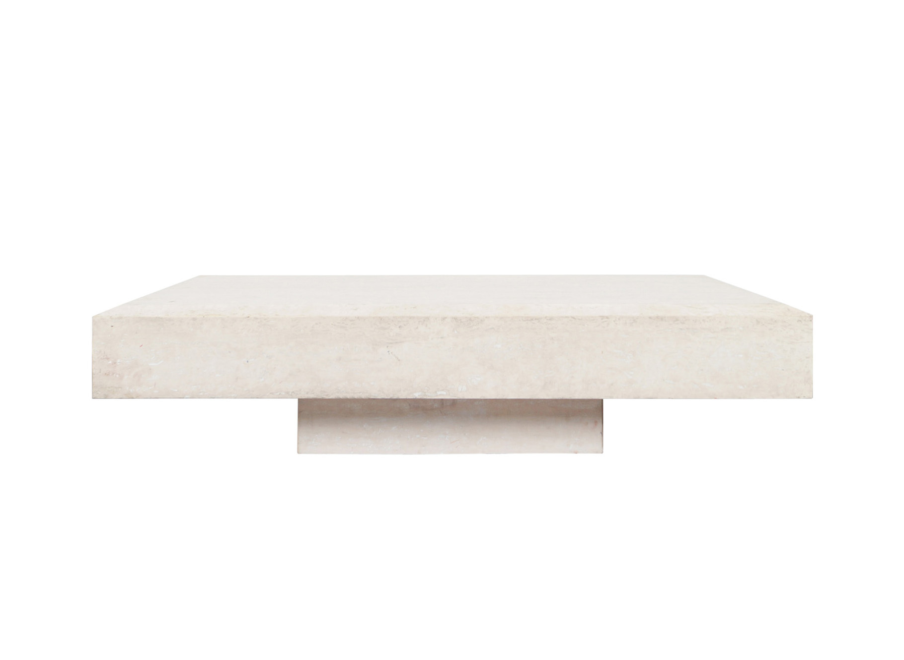 Italian Modernist Travertine Coffee Table