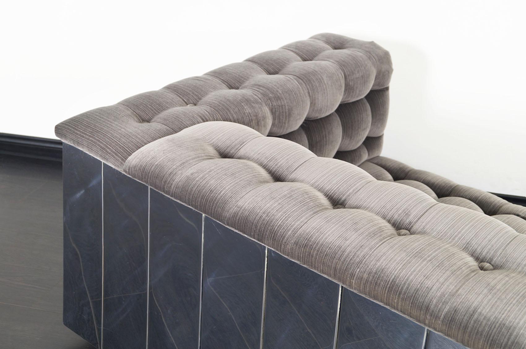 Vintage Chrome Cityscape Sofa