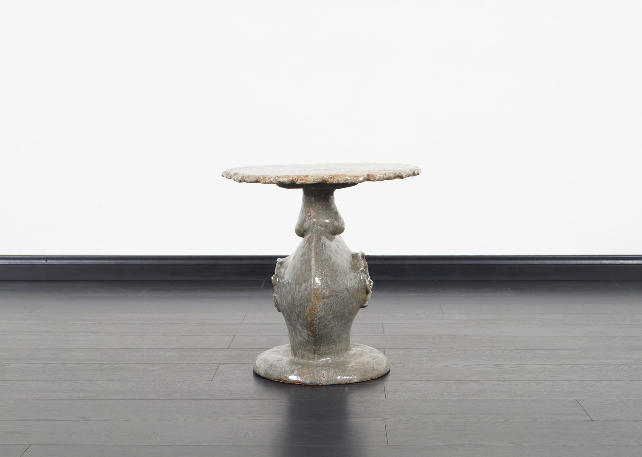 Vintage Ceramic Studio Pottery Table