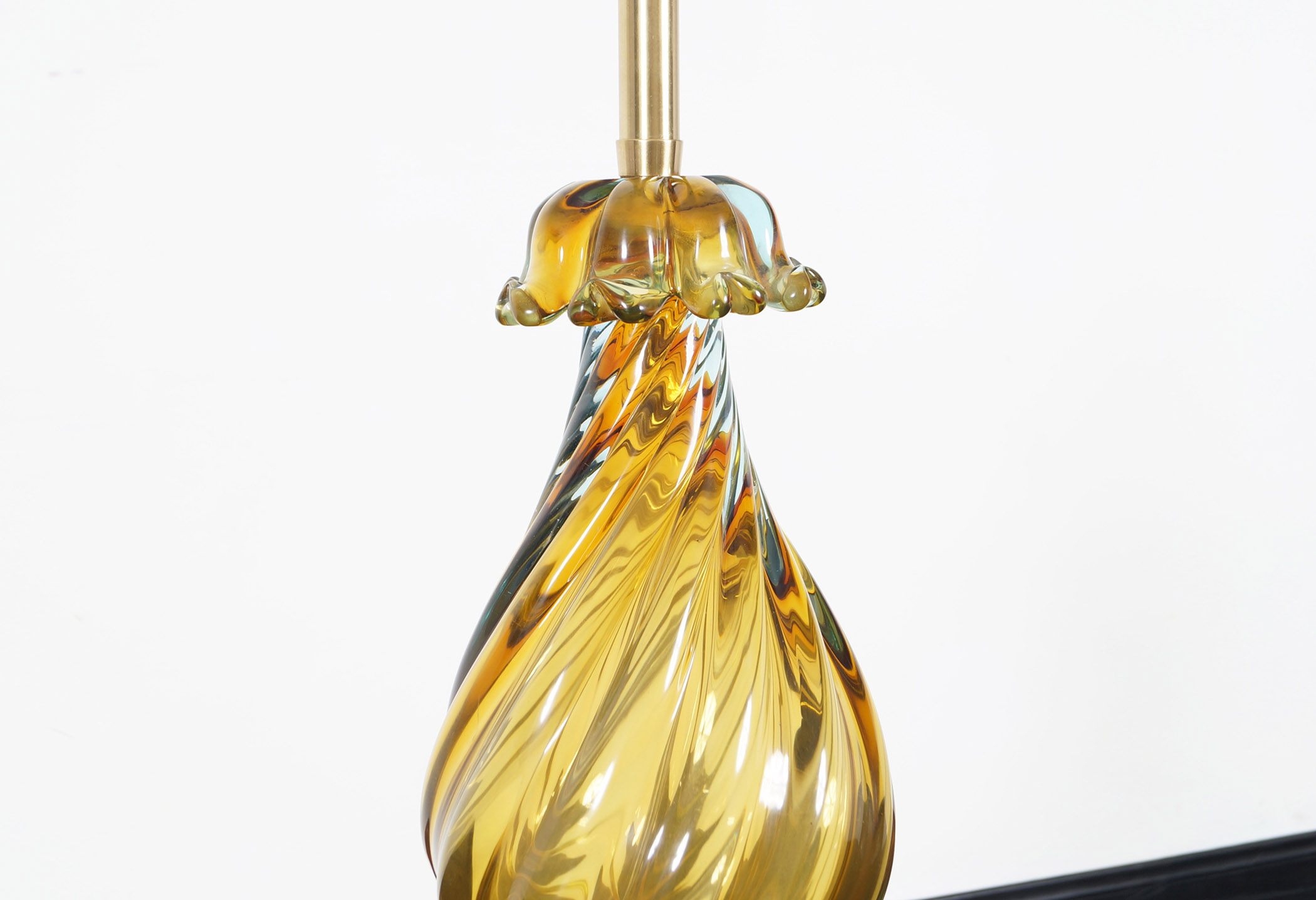 Vintage Murano Glass Sommerso Lamp by Seguso