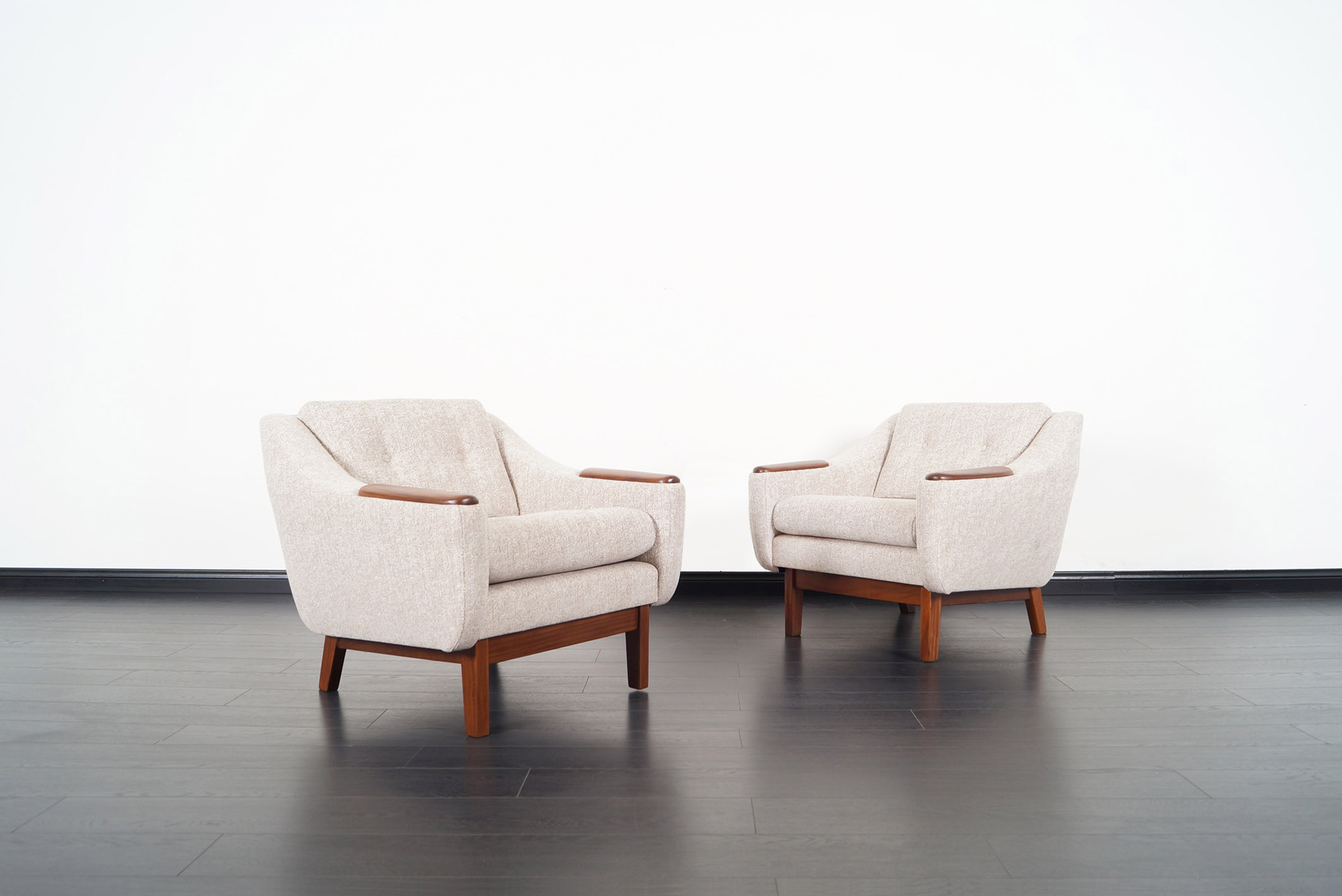 Mid Century Modern Walnut Lounge Chairs