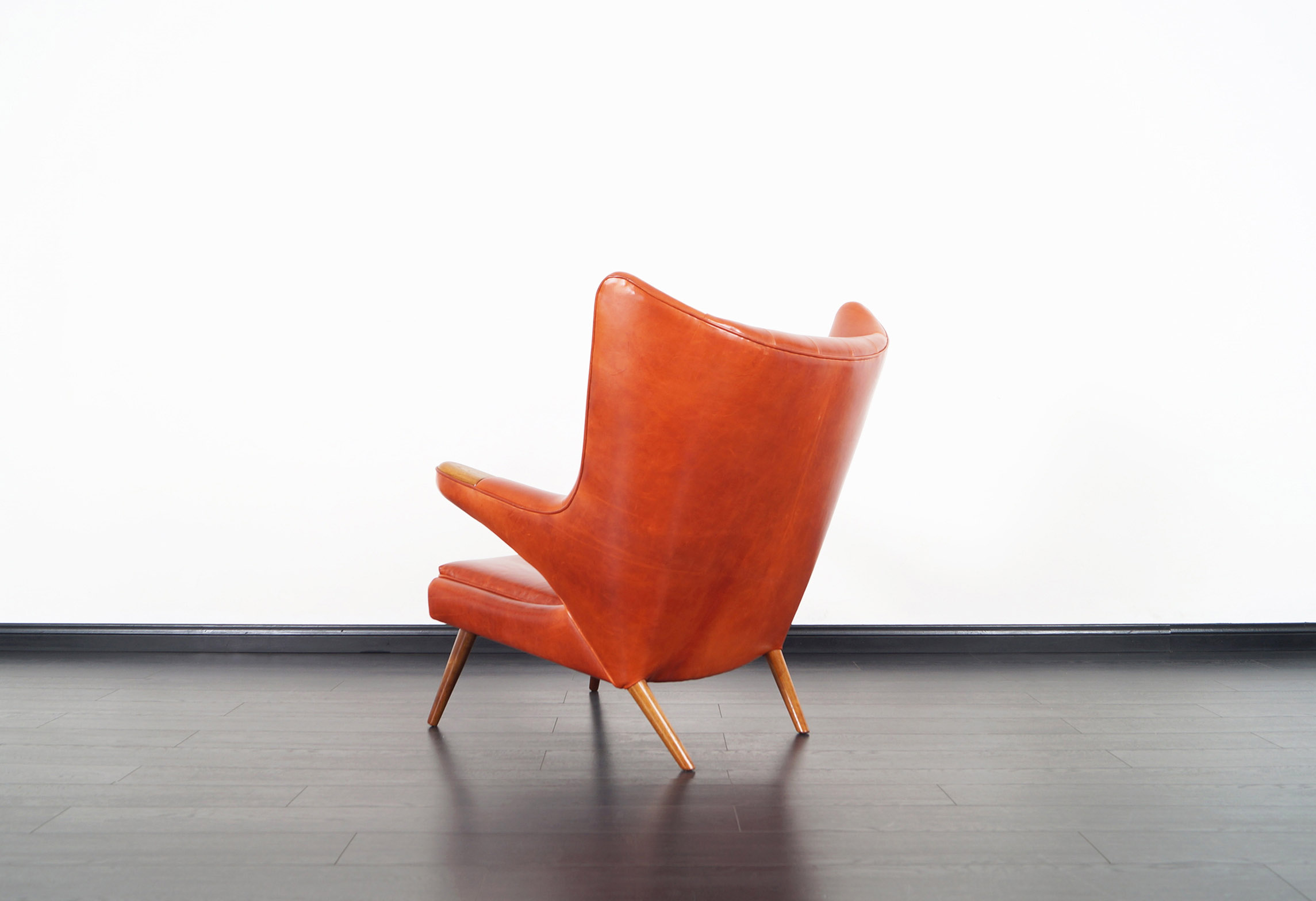 AP-19 Papa Bear Chair and Ottoman in the manner of Hans J. Wegner