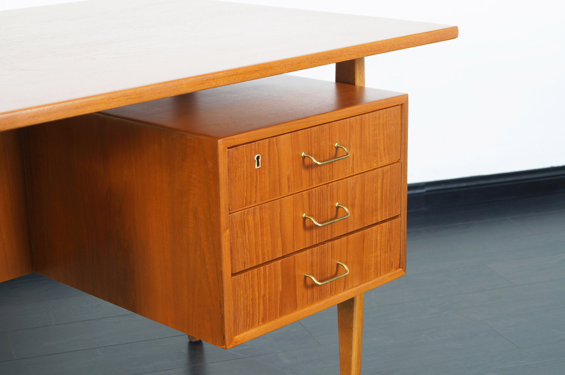 Danish Modern Teak Desk by Torben Standgaard