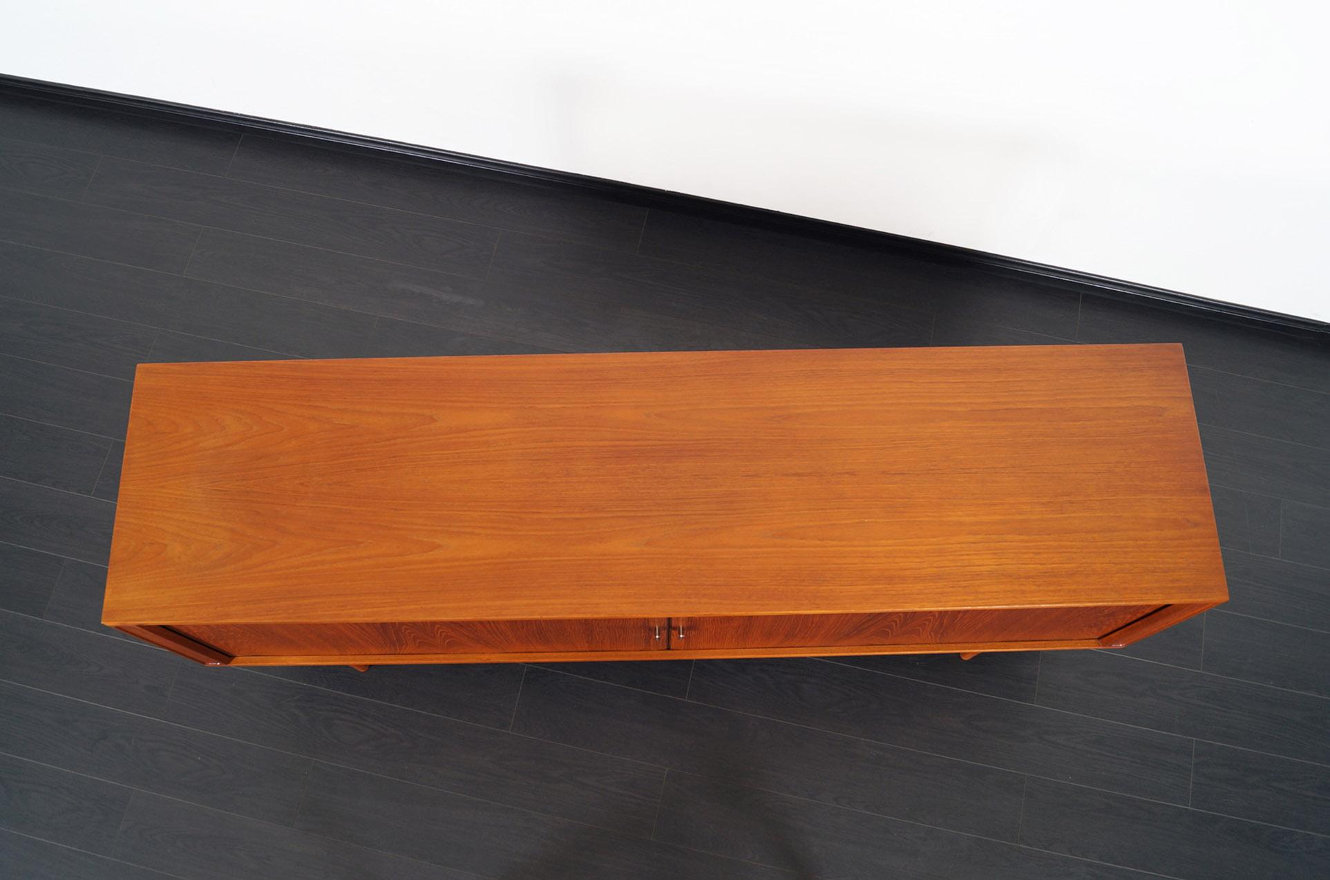 Danish Modern Tambour Door Credenza by Peter Løvig Nielsen