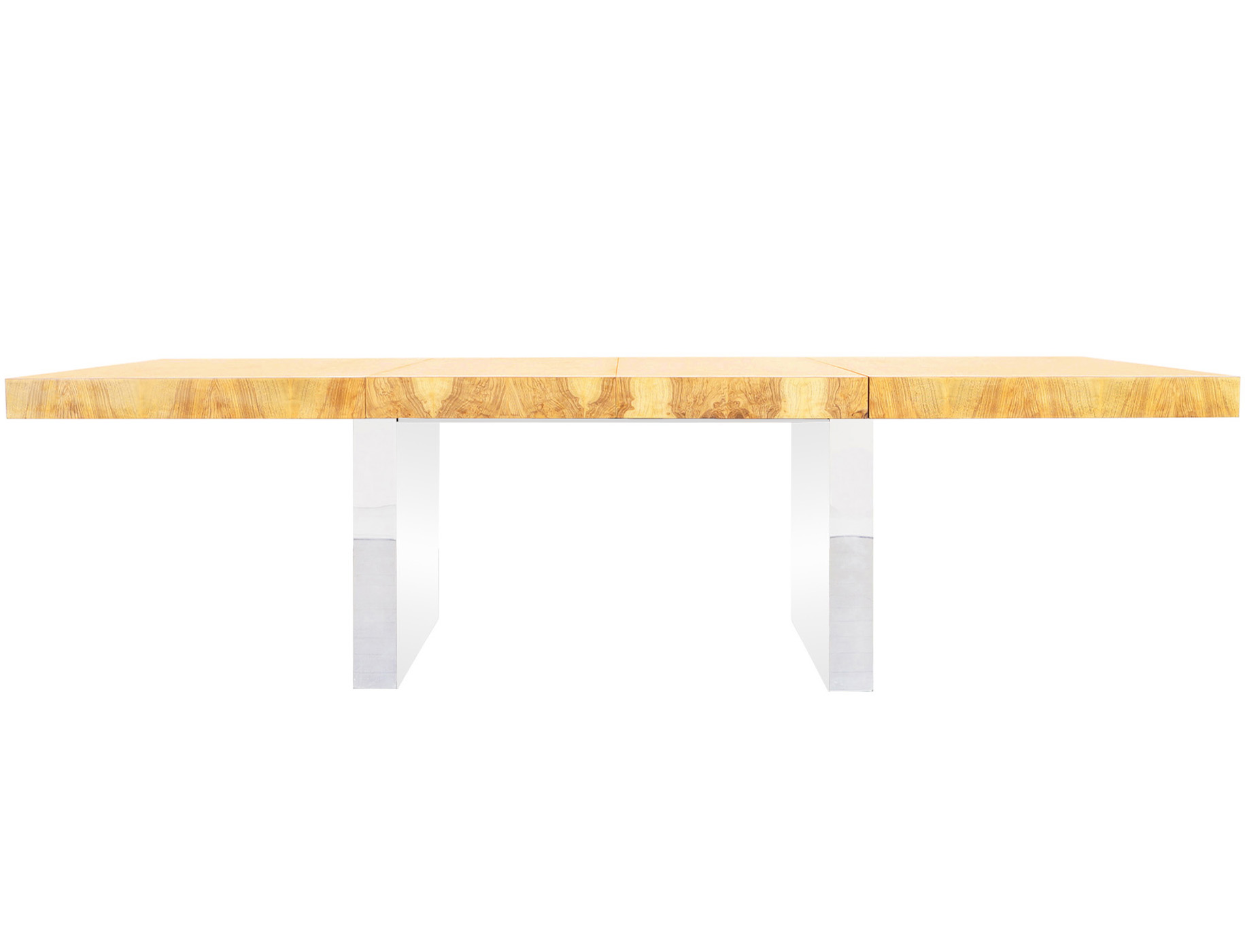 Thayer Coggin Extendable Burl Wood Dining Table by Milo Baughman