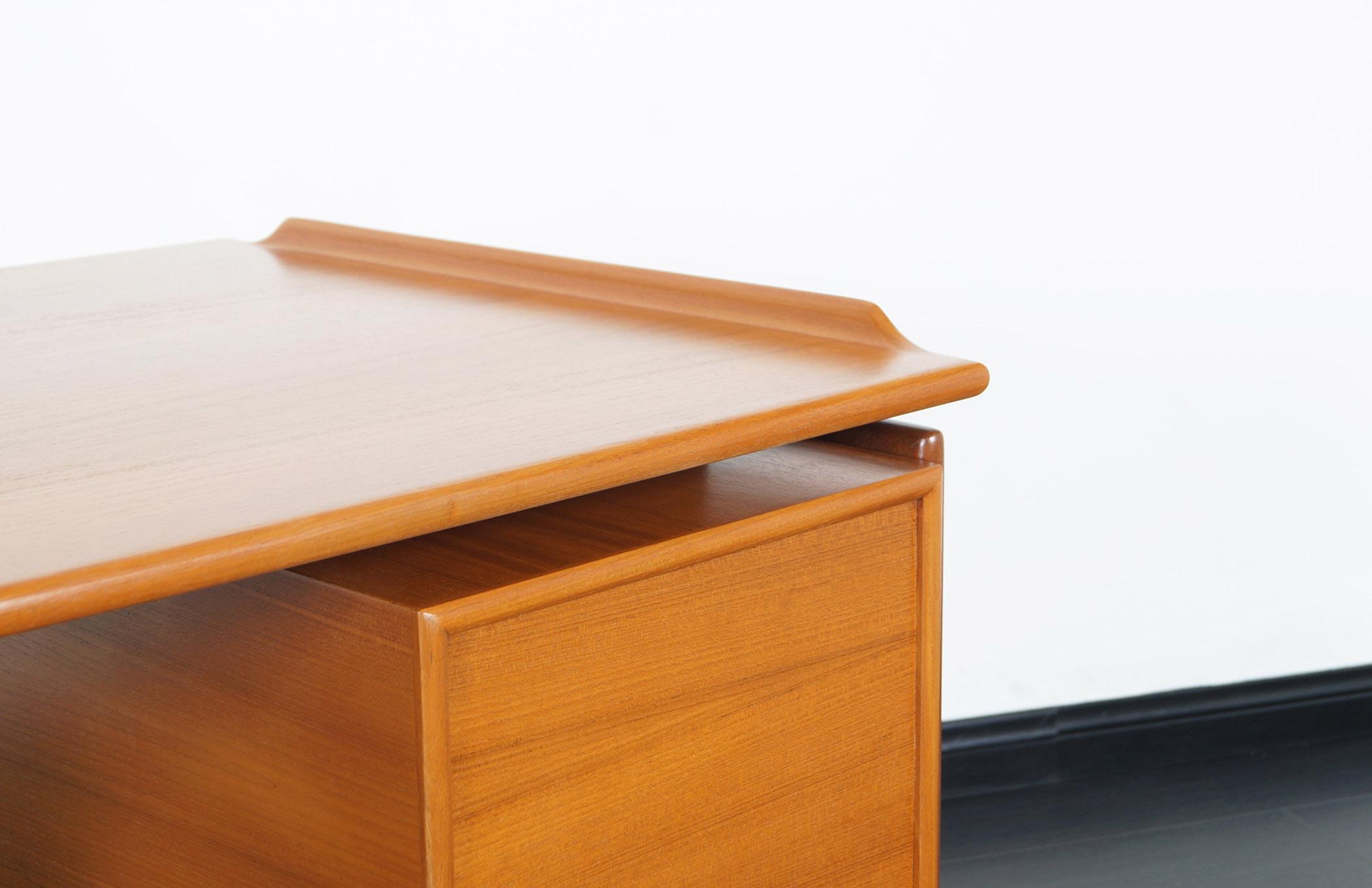 Danish Modern Teak Desk by G.V. Møbler