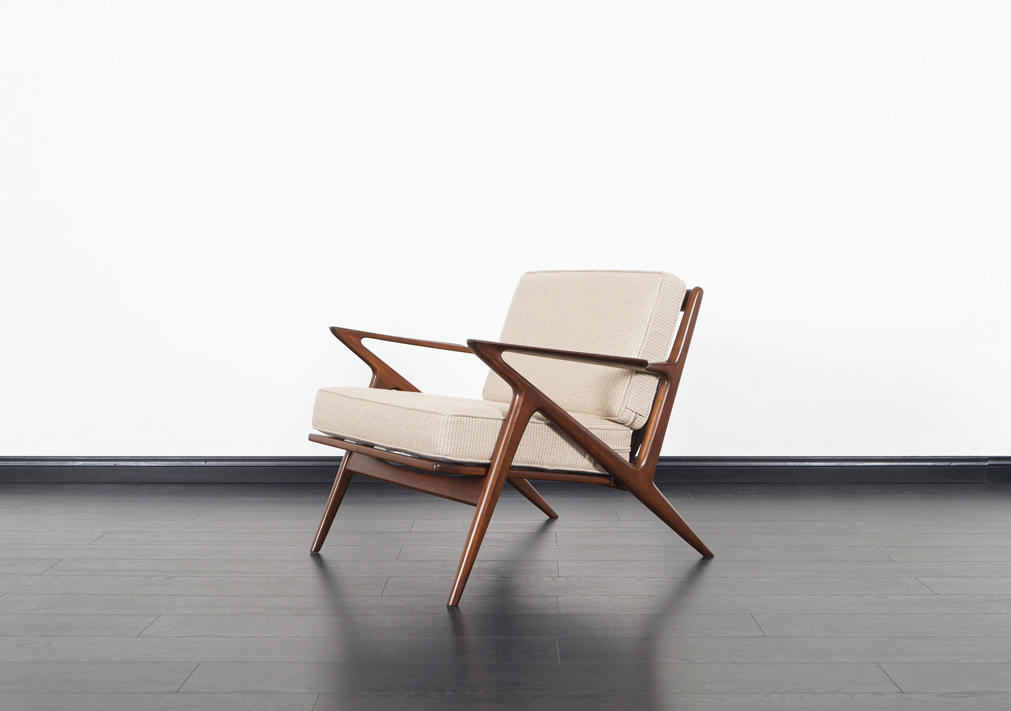 Danish Modern Z Lounge Chairs by Poul Jensen for Selig