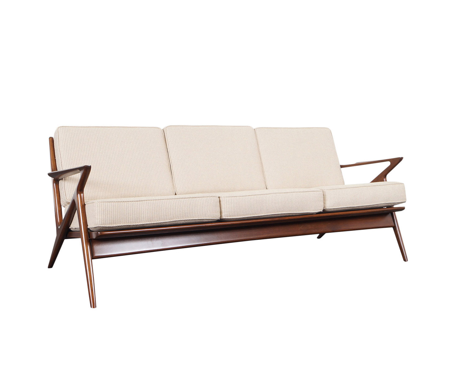 Danish Modern Z Sofa by Poul Jensen for Selig