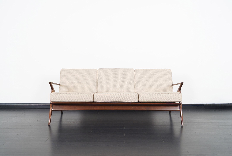 Danish Modern Z Sofa by Poul Jensen for Selig