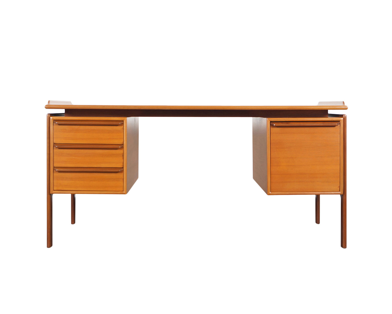 Danish Modern Teak Desk by G.V. Møbler