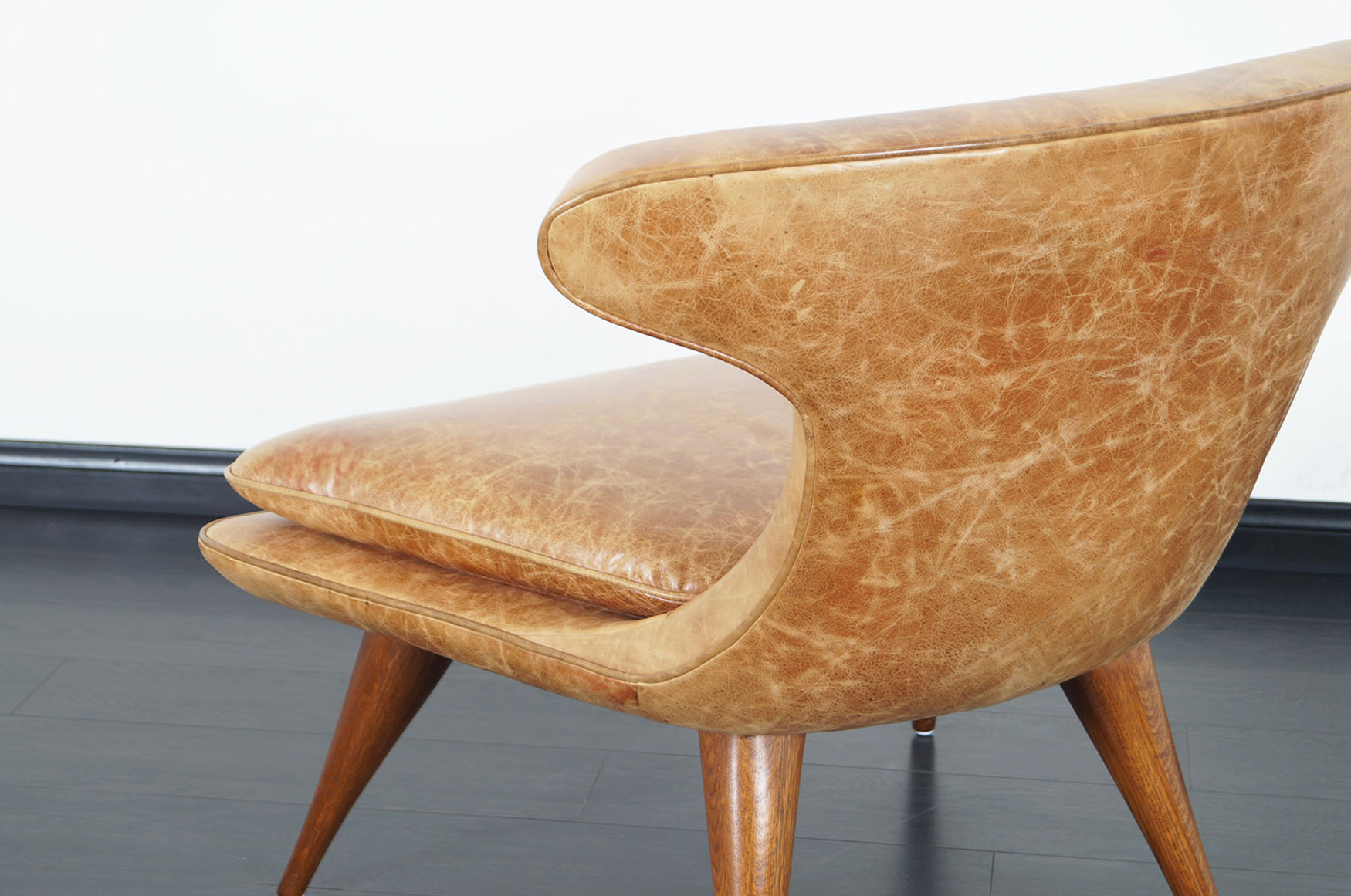 Vintage Leather Horn Chair