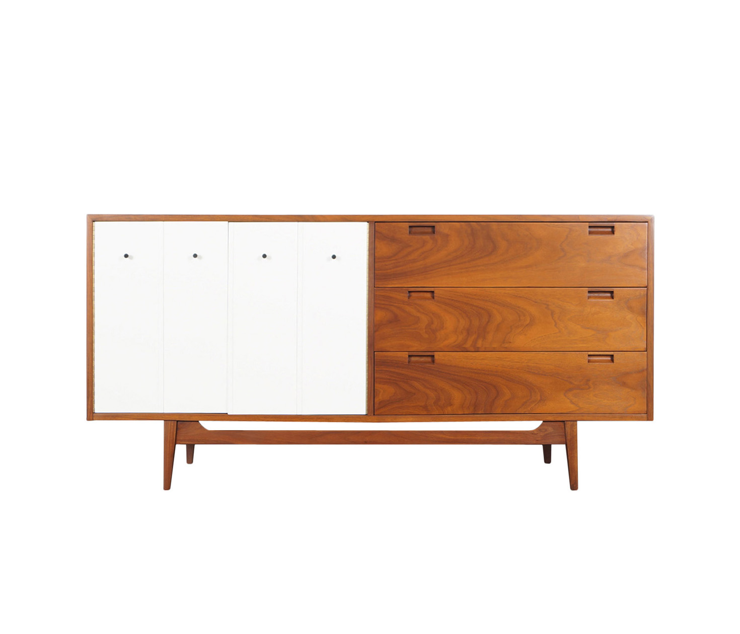 Mid Century Walnut Credenza by American of Martinsville