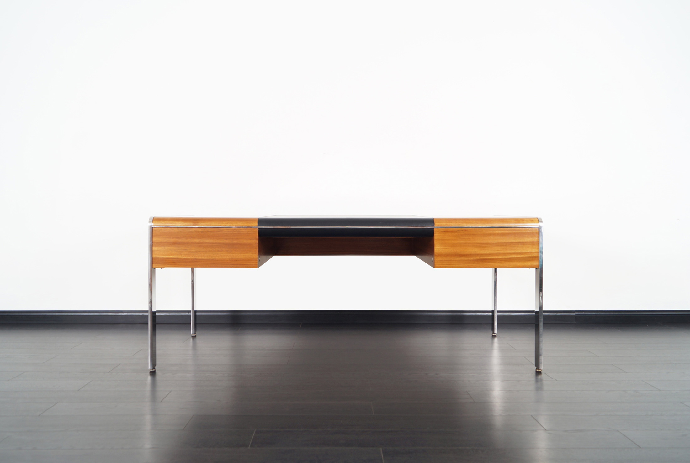 Vintage Stainless Steel Executive Desk by Richard W. Thompson