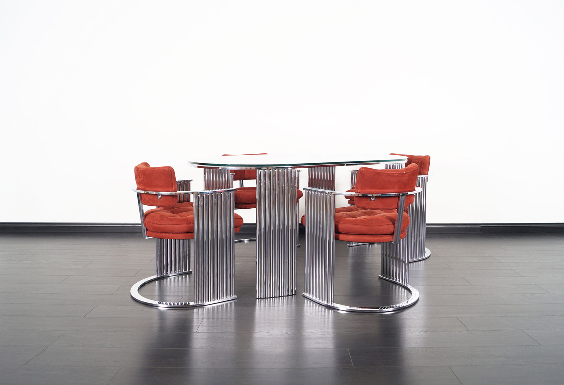 Thayer Coggin Chrome Dining Set by Milo Baughman