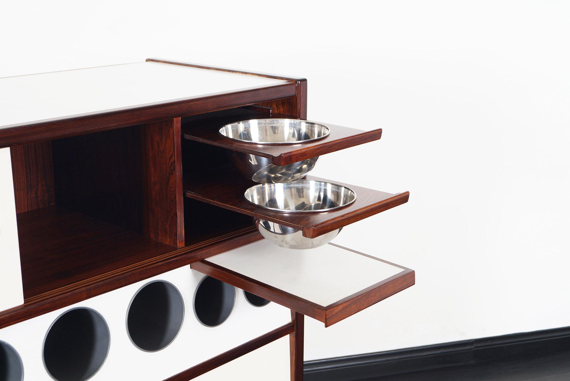 Danish Modern Rosewood HM3 Dry Bar by Poul Heltborg