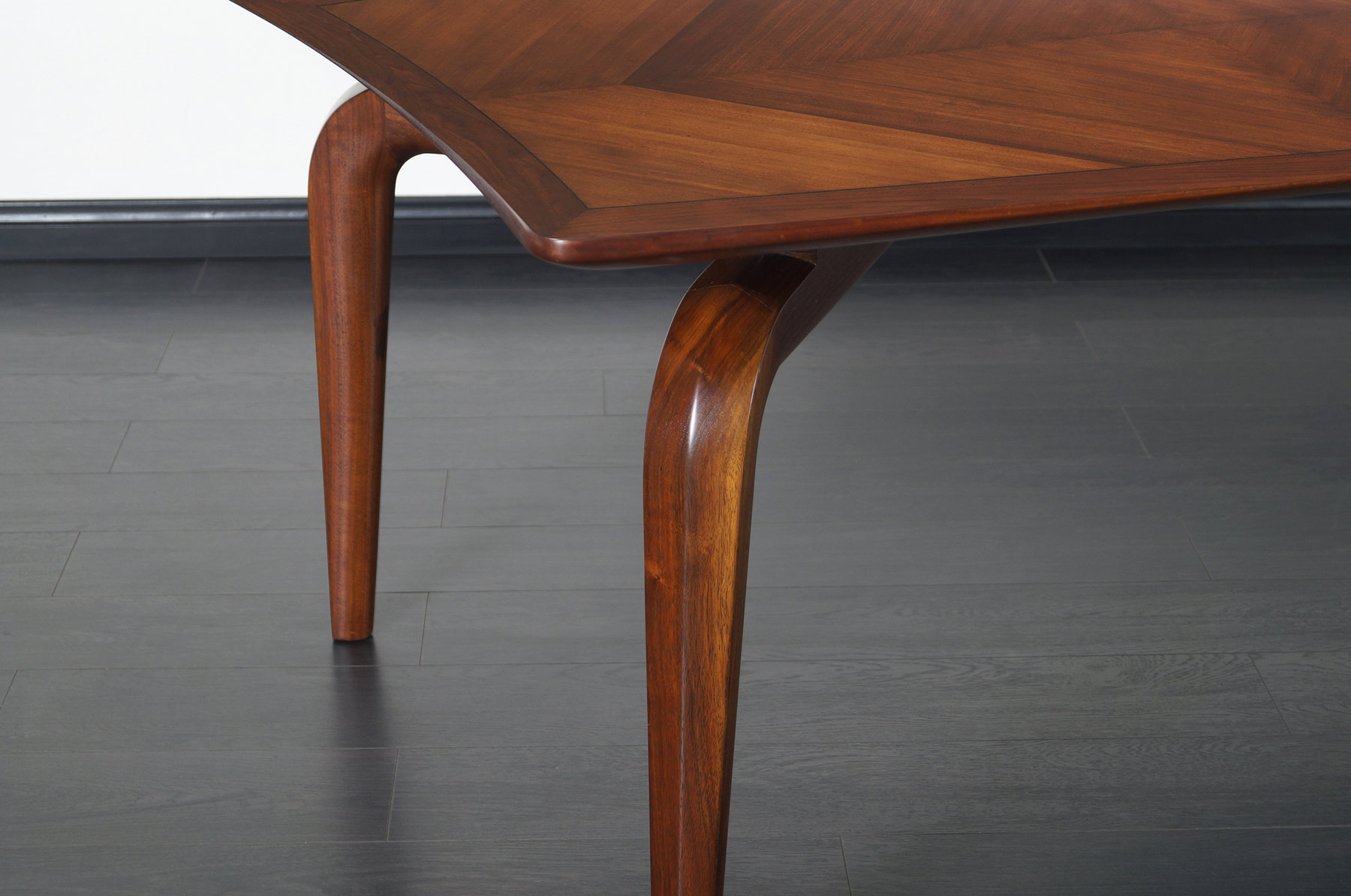 Vintage Diamond Shaped Conference Table or Dining Table by Monteverdi Young