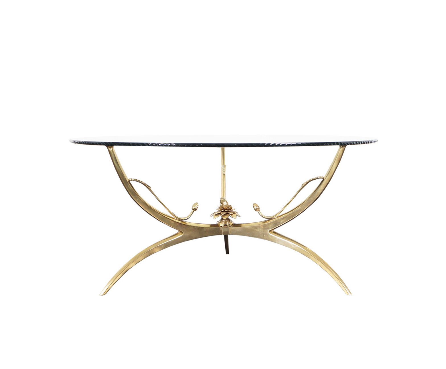 Italian Brass Lotus Coffee Table