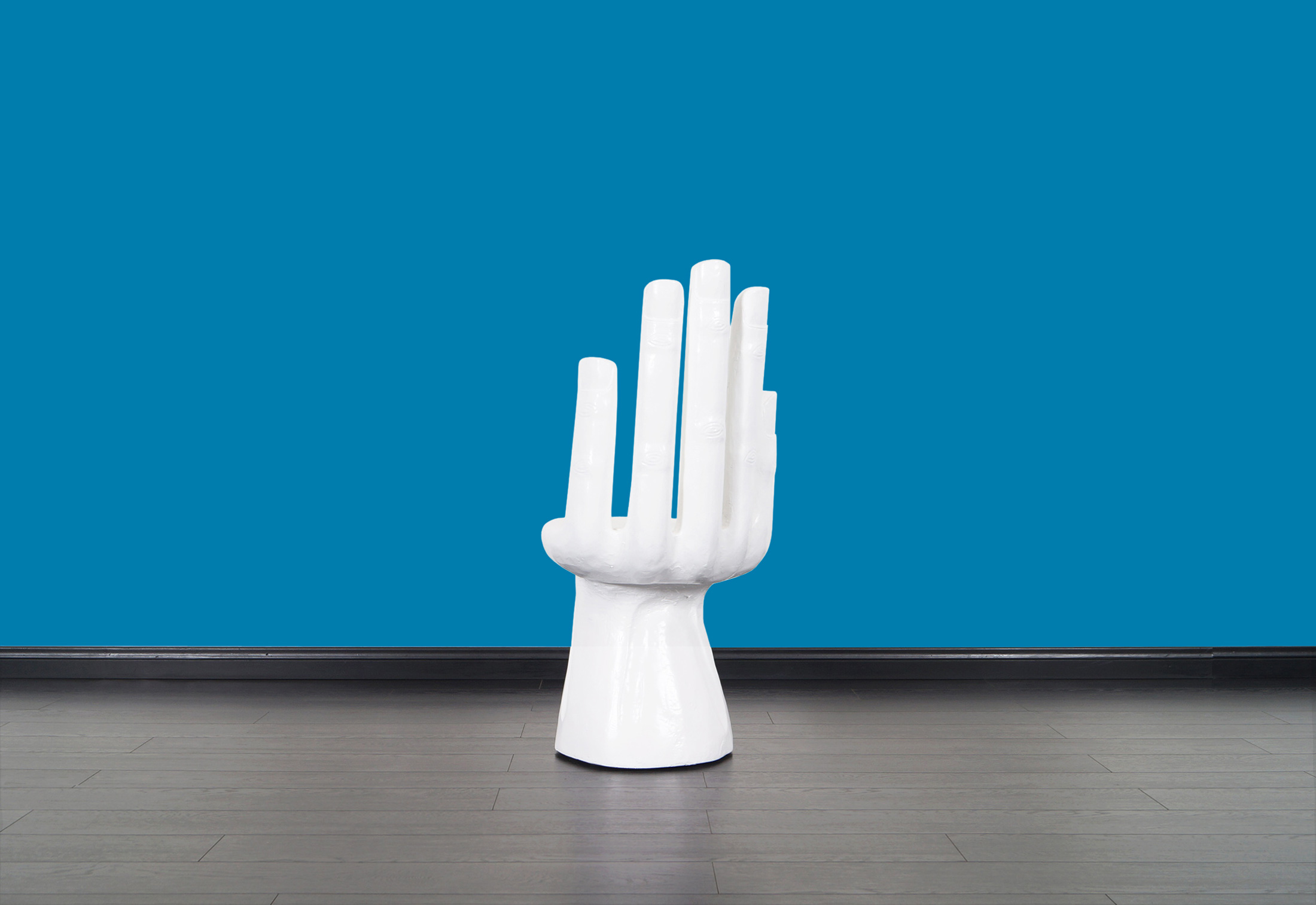 Vintage Sculptural Hand Chair After Pedro Friedeberg