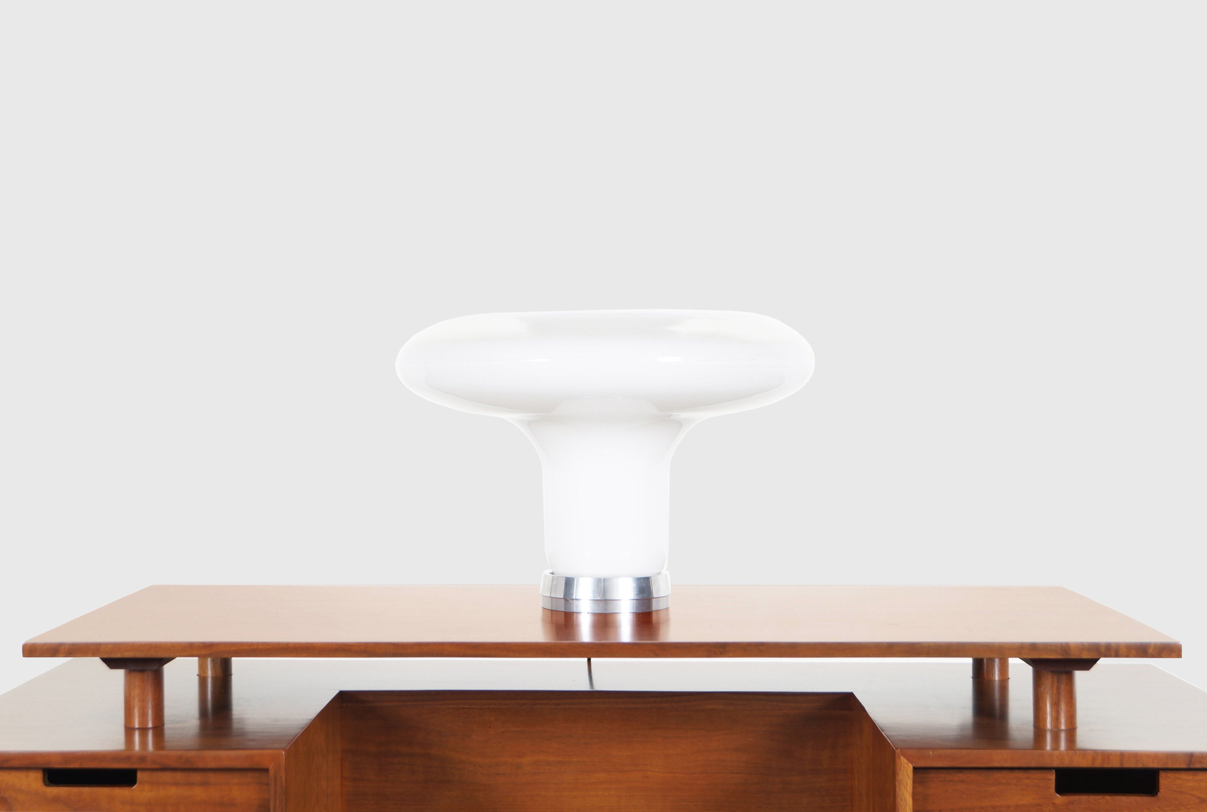 Italian Murano Glass Lesbo Lamp by Angelo Mangiarotti