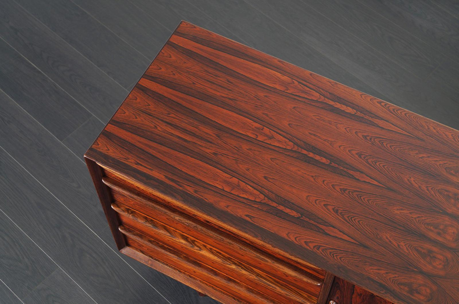 Danish Rosewood Tambour Door Sideboard by Svend A. Madsen