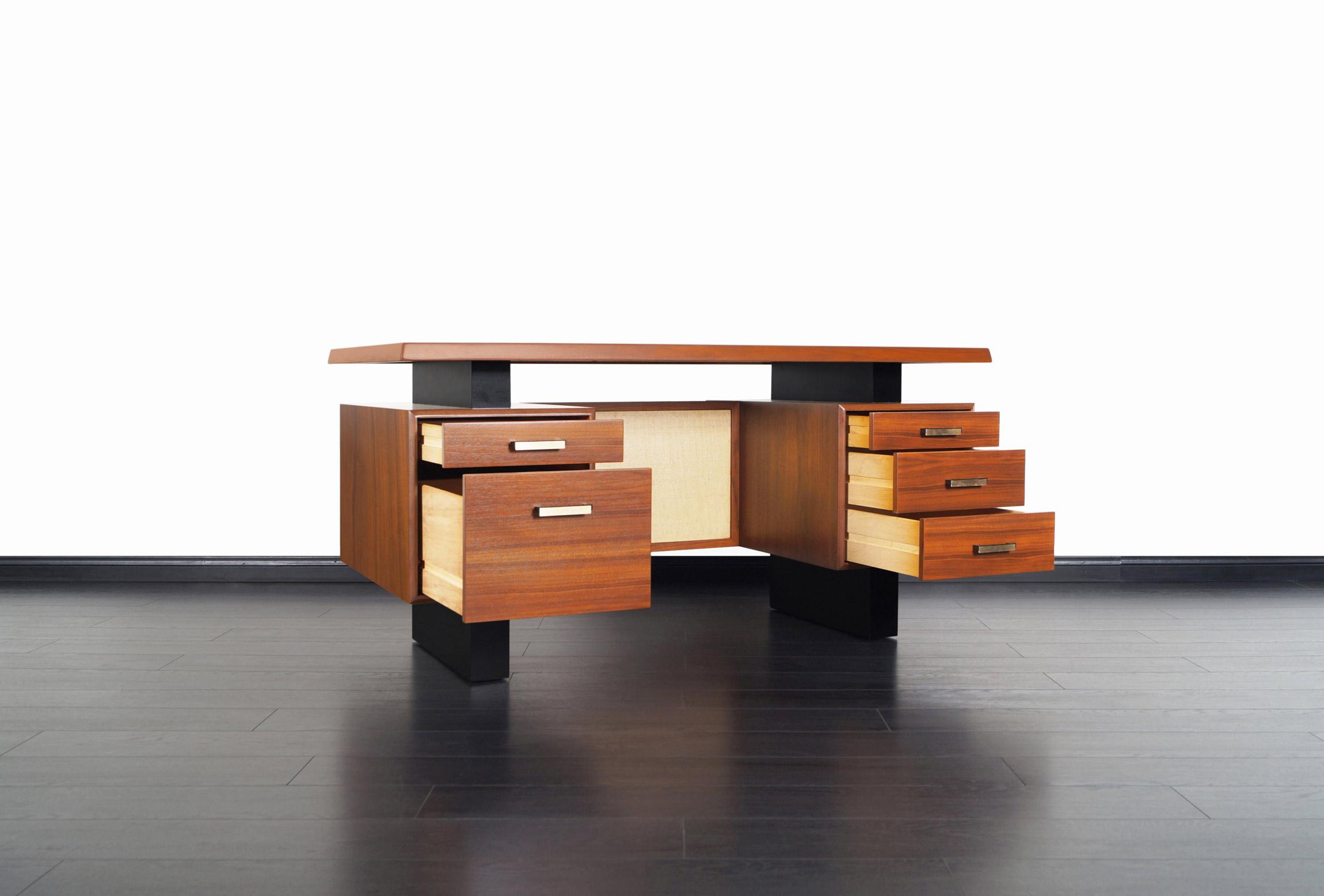 Mid Century Modern Walnut Desk