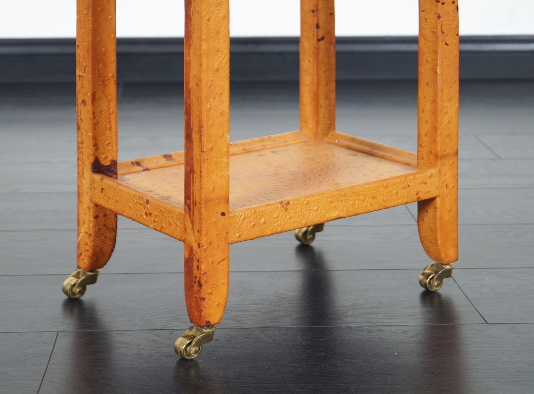 Vintage Ostrich Leather Table by Karl Springer