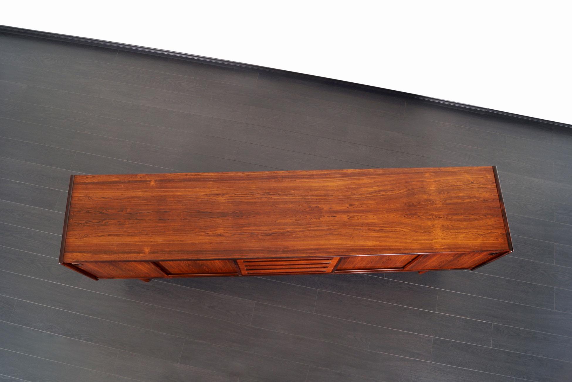 Danish Brazilian Rosewood Credenza by Johannes Andersen