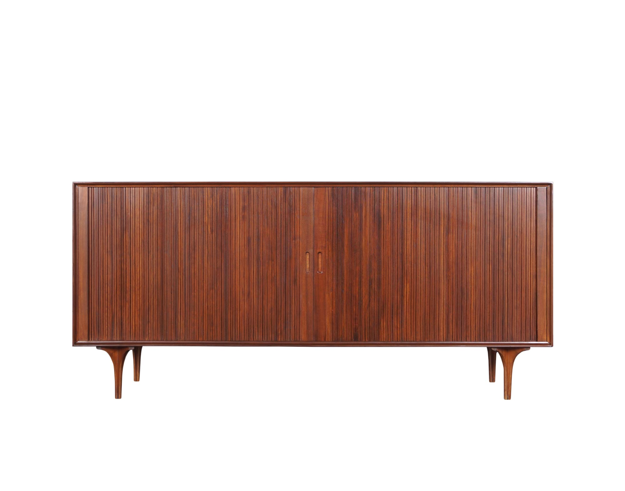 Vintage Tambour Doors Credenza by Robert Baron for Glenn of California