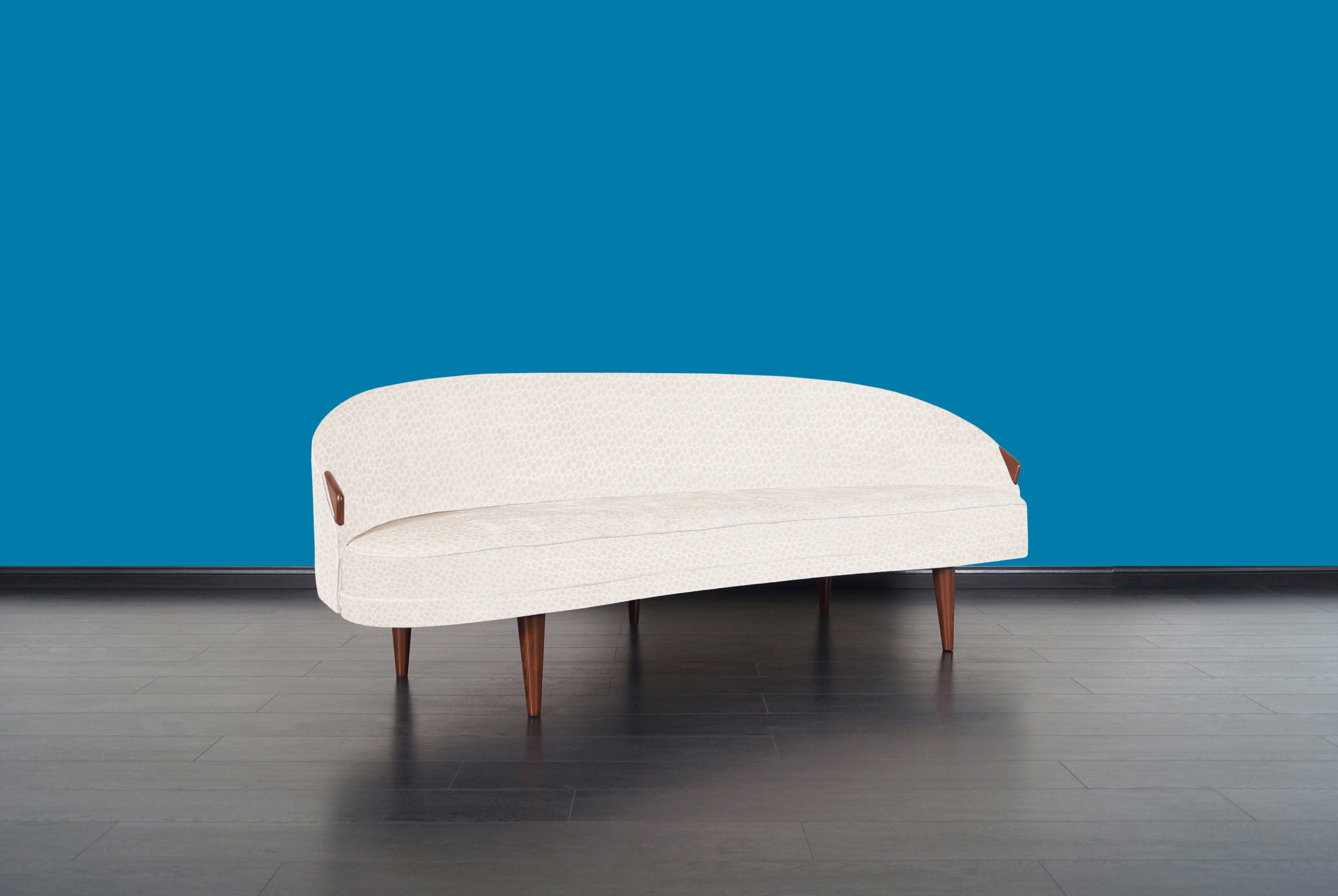 Rare Model 2010-S Walnut Sofa by Adrian Pearsall