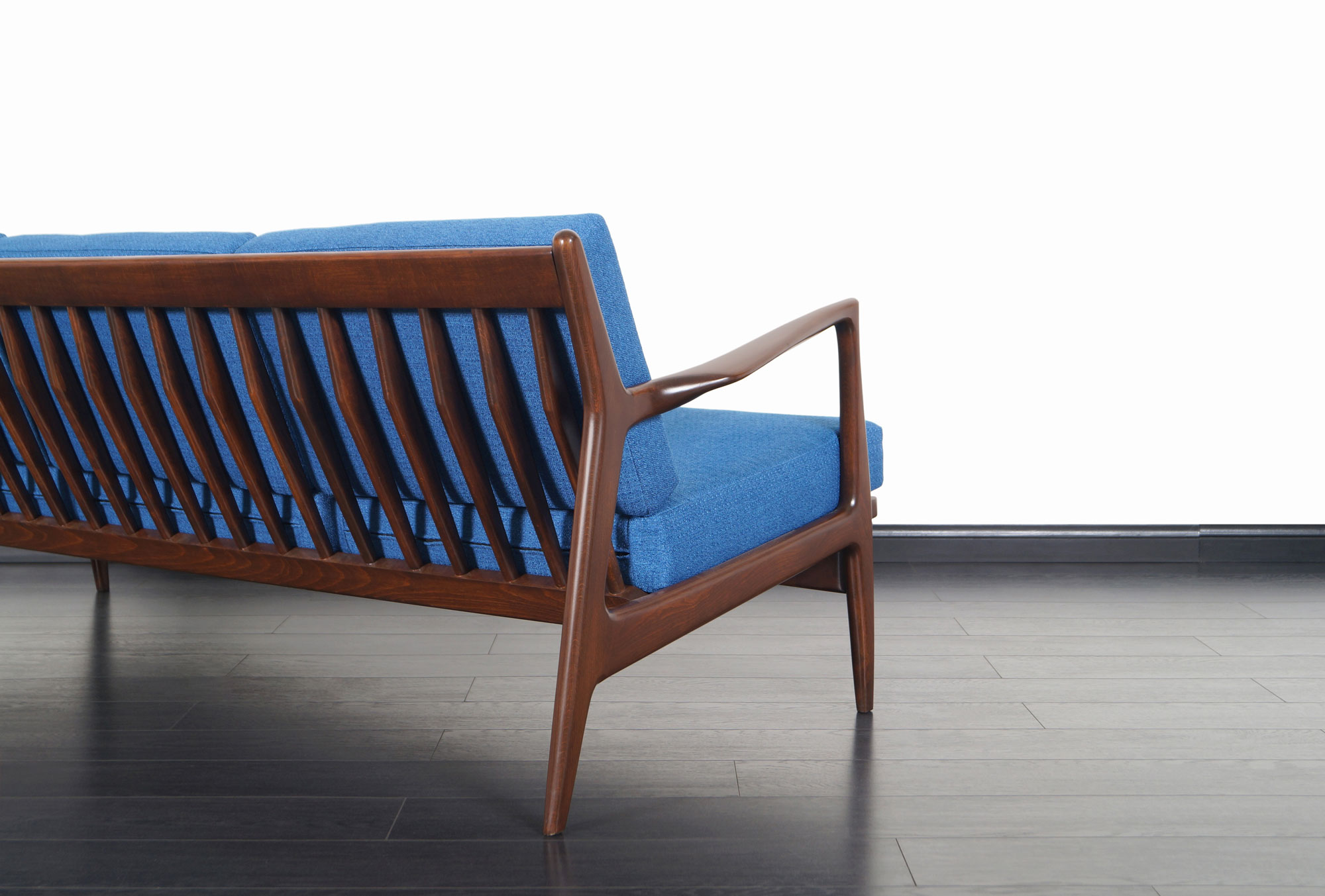 Danish Modern Walnut Sofa by Ib Kofod Larsen