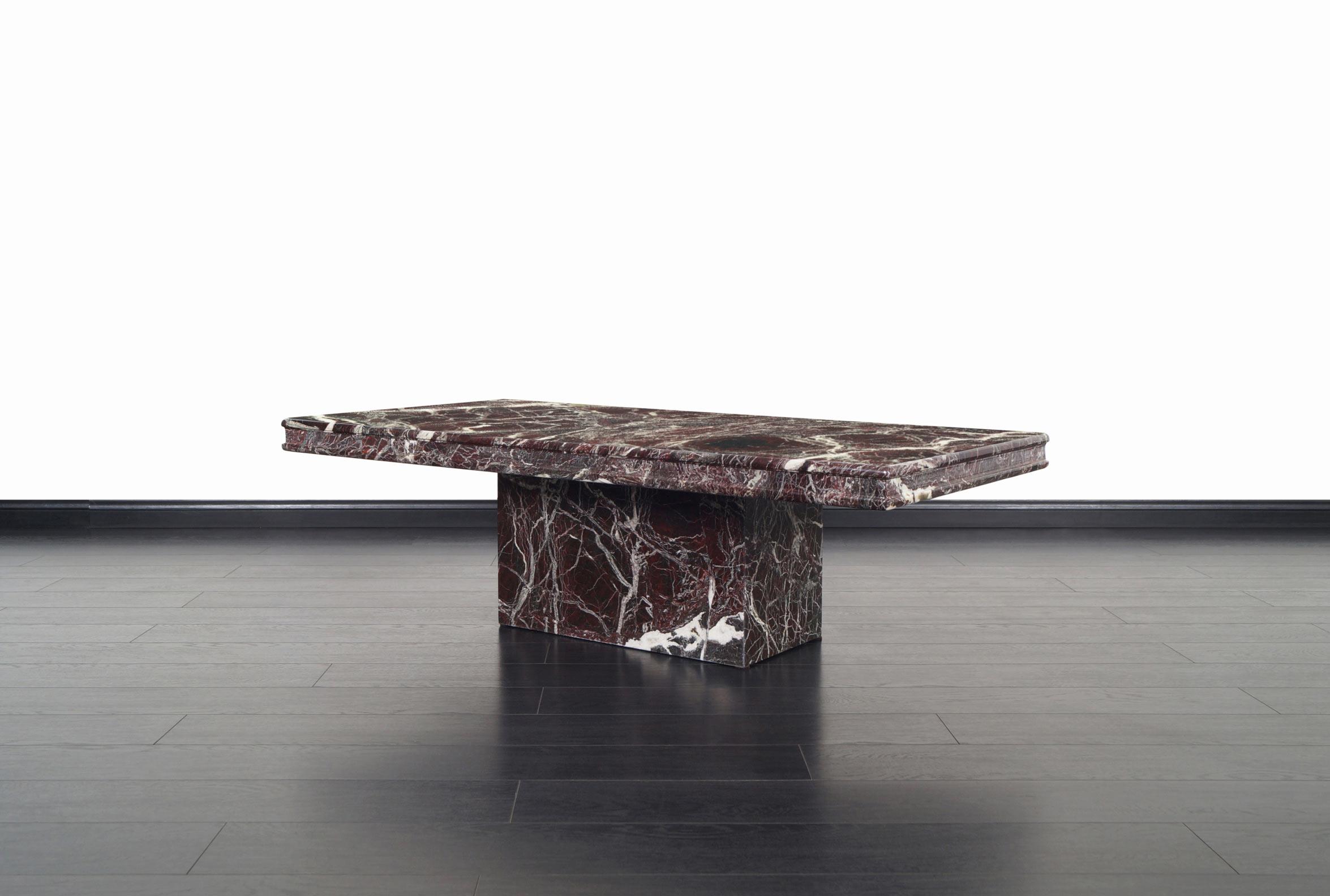 Vintage Italian Marble Coffee Table