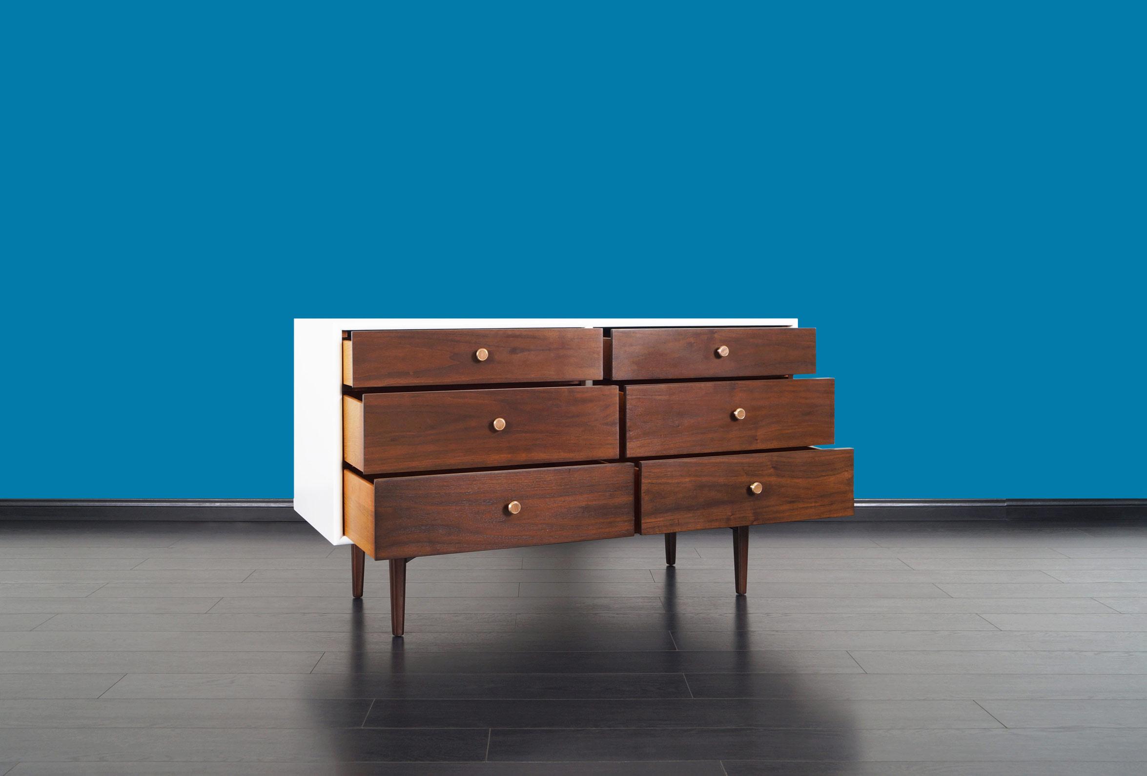 Vintage Walnut Dresser by Kipp Stewart