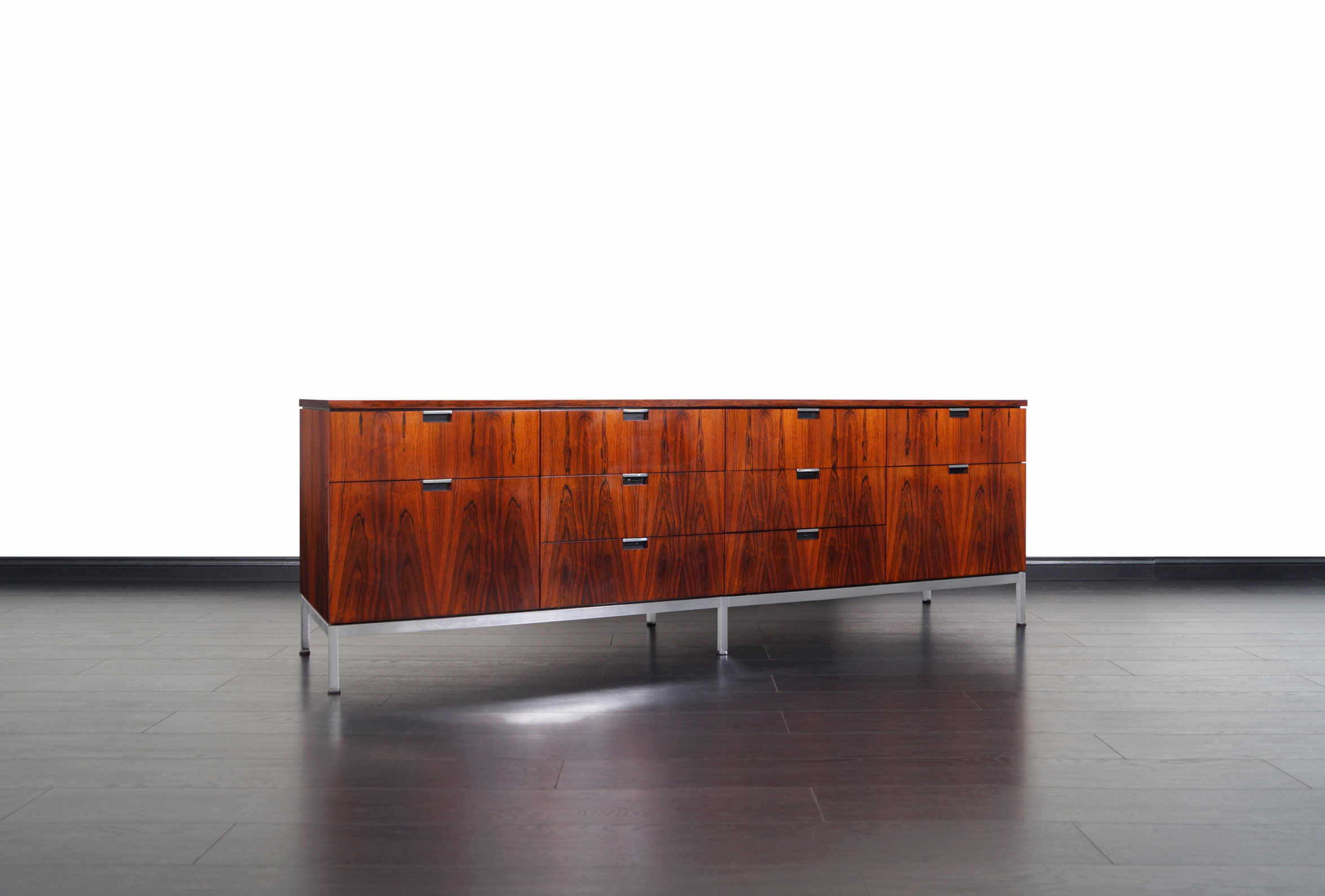 Vintage Brazilian Rosewood Credenza by Florence Knoll