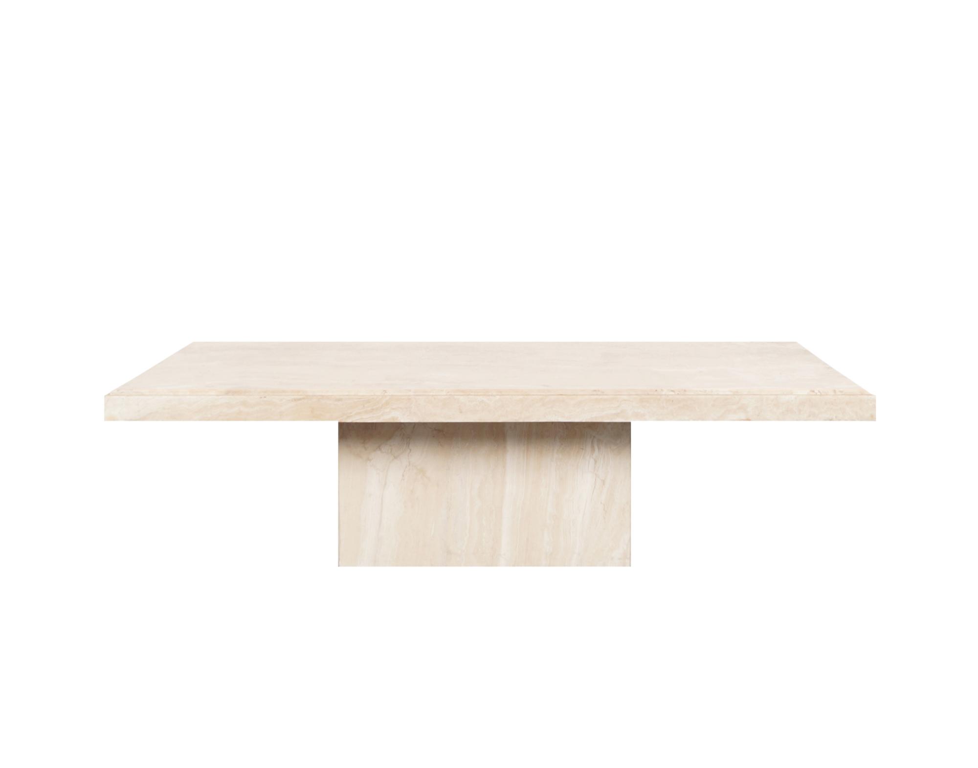 Italian Modernist Travertine Coffee Table