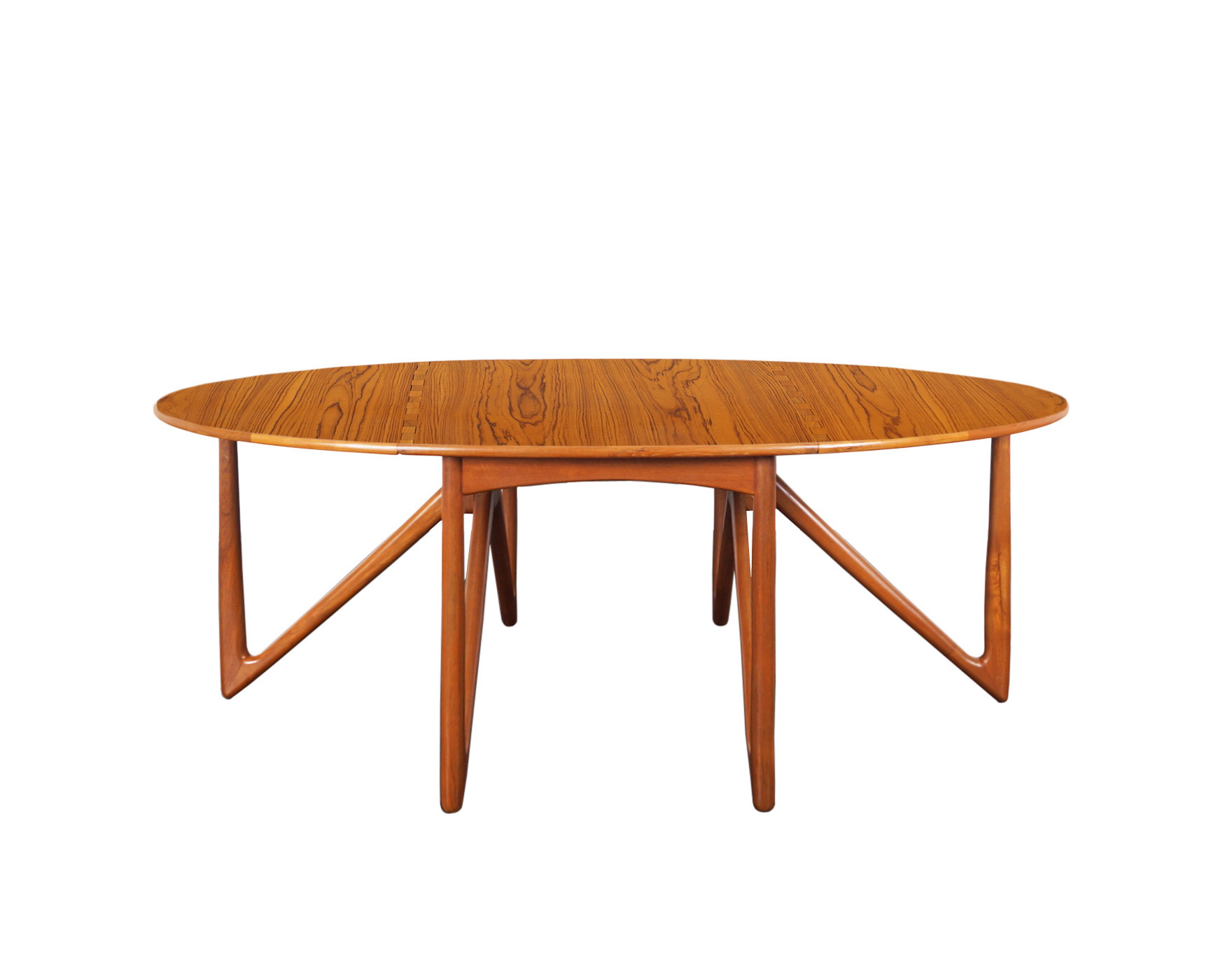 Danish Teak Gateleg Drop Leaf Dining Table by Niels Kofoed