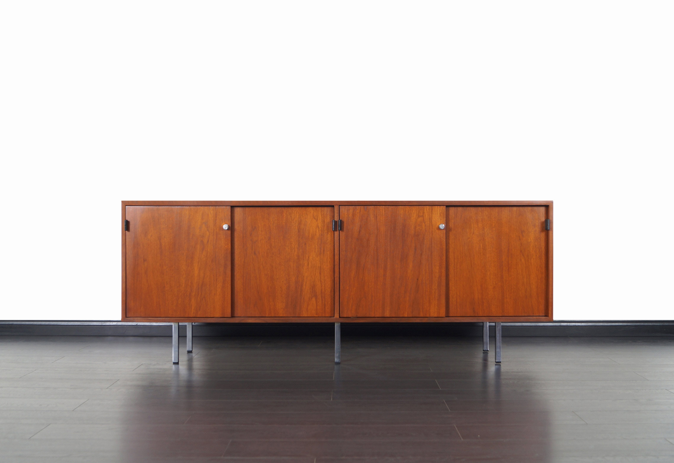Vintage Walnut Credenza by Florence Knoll