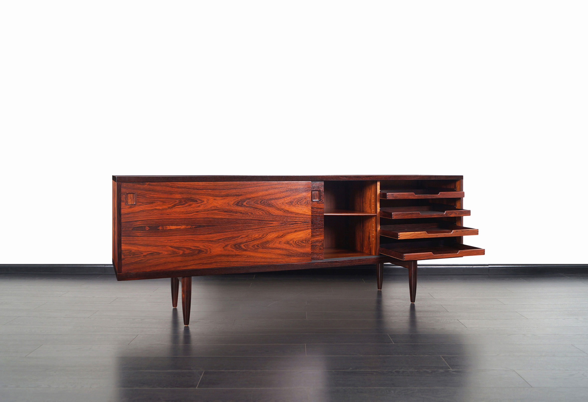 Danish Rosewood Model-20 Credenza by Niels O. Møller